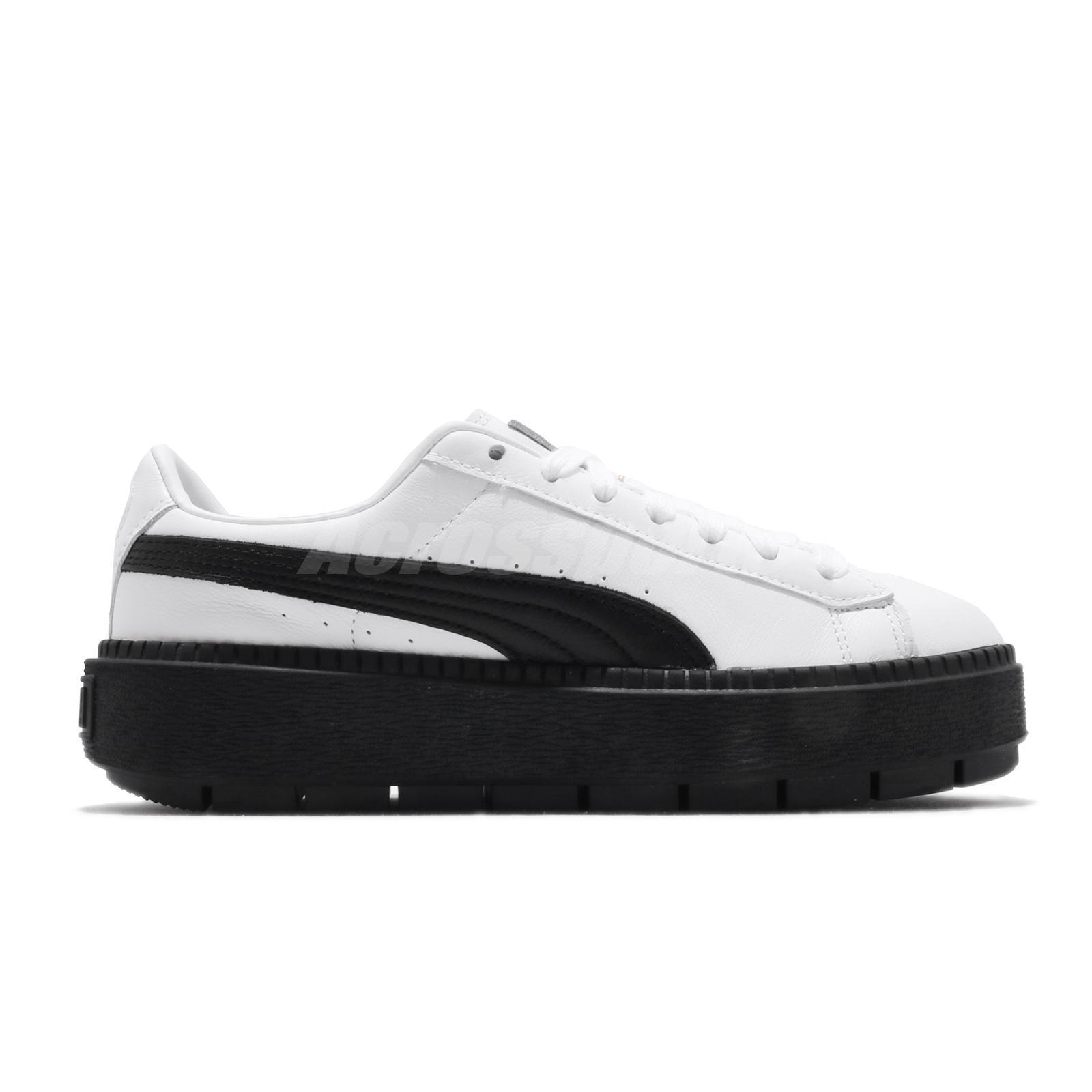 Details about Puma Platform Trace L Wns Basket White Black Women Casual  Shoe Sneaker 366109-02