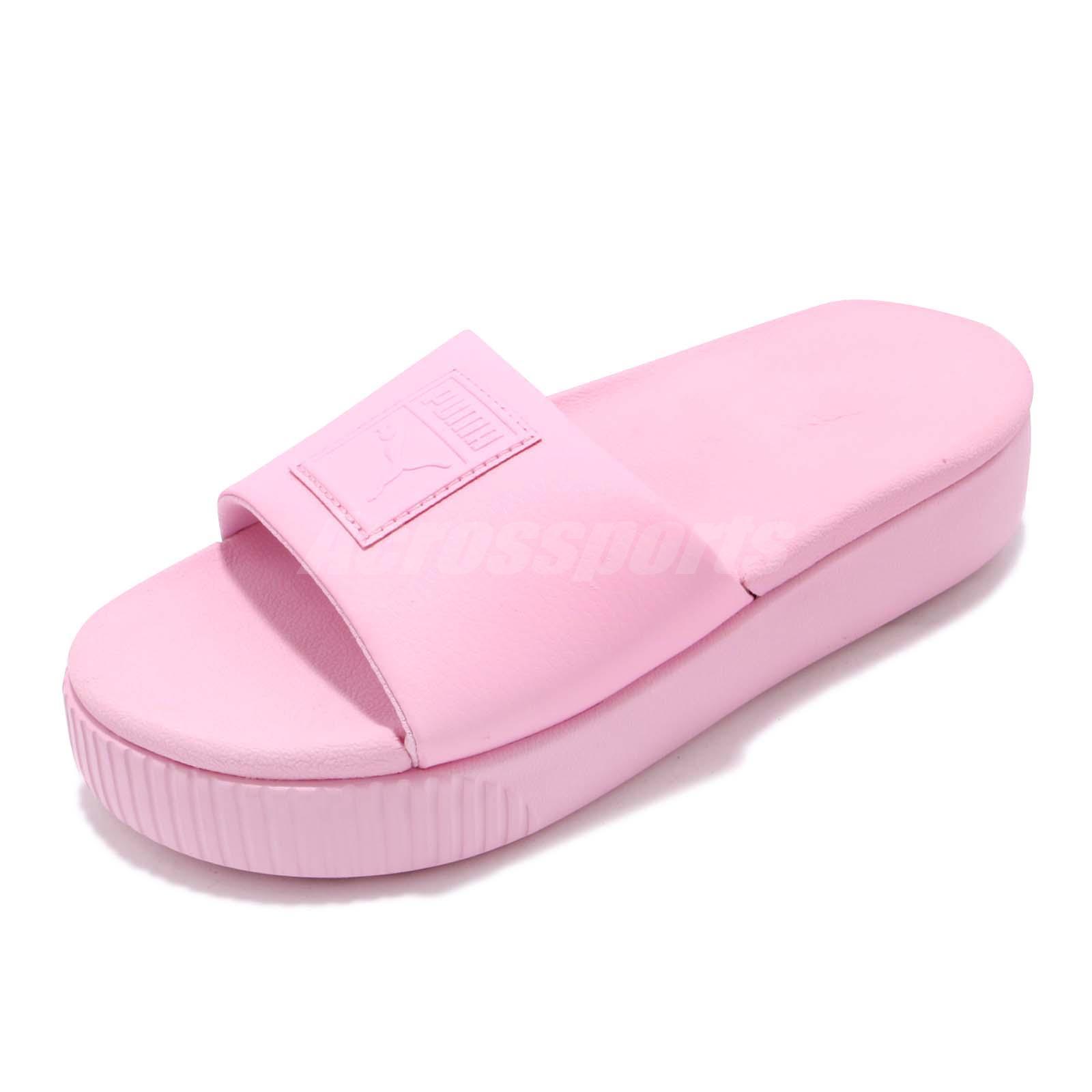 6a065a06bd66 Puma Platform Slide Wns Pale Pink Women Sports Sandals Slippers 366121-09