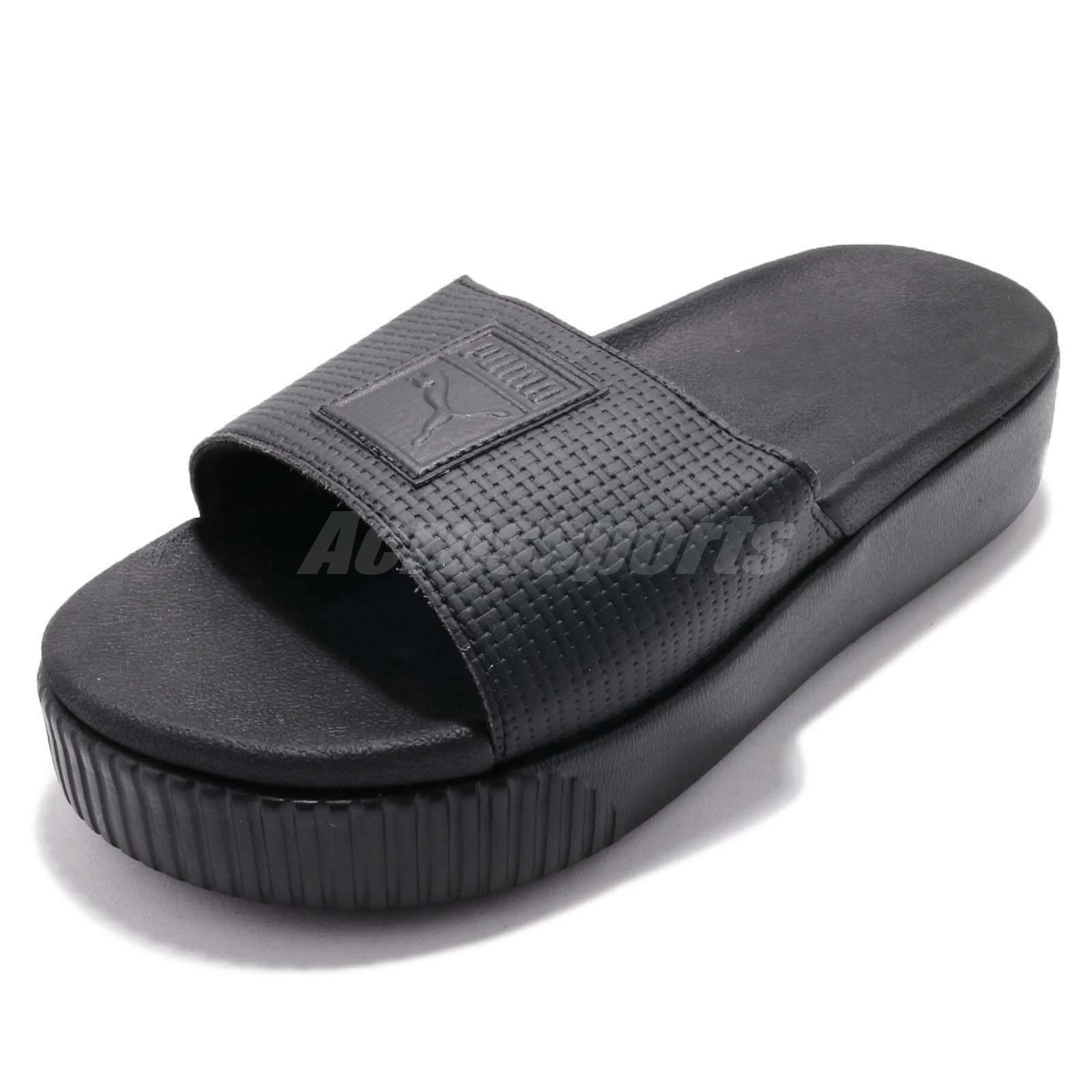 6b706d16b784 Puma Platform Slide Wns EP Strap Triple Black Women Sandal Slippers  366122-02