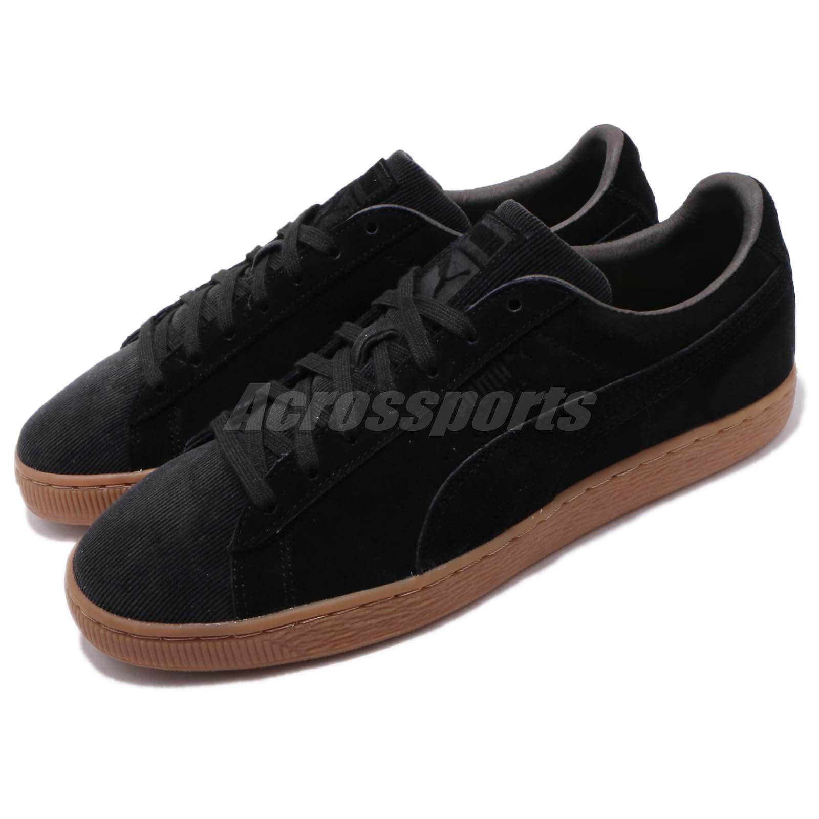 Details about Puma Suede Classic Pincord Black Gum Men Women Casual Shoes Sneakers 366235 01