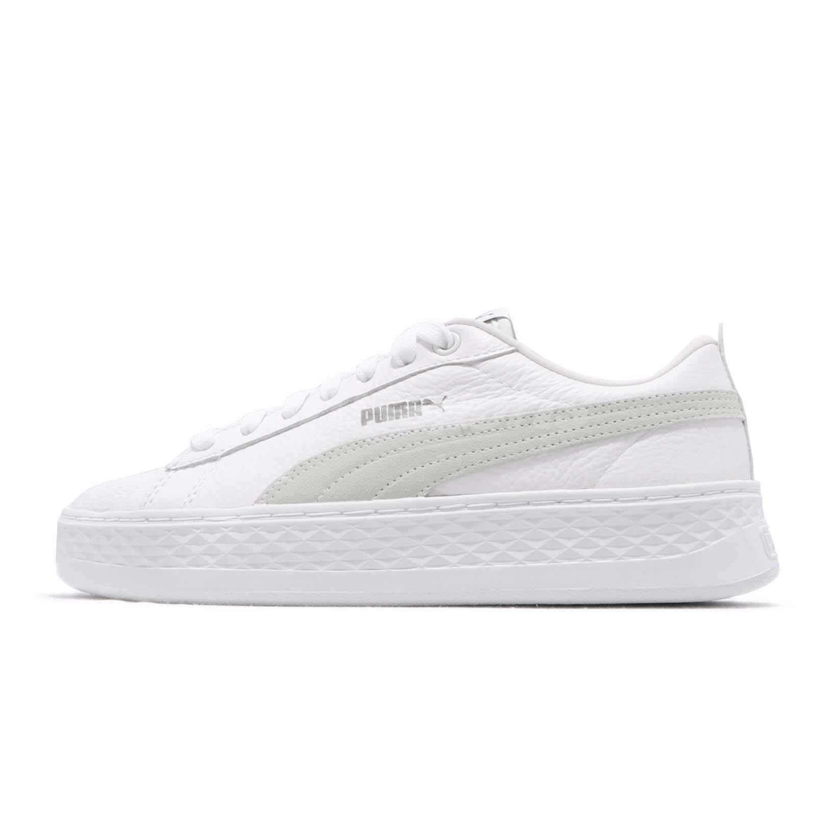 f1b68ab5a4e7 Puma Smash Platform L White Women Lifestyle Casual Shoes Sneakers 366487-06