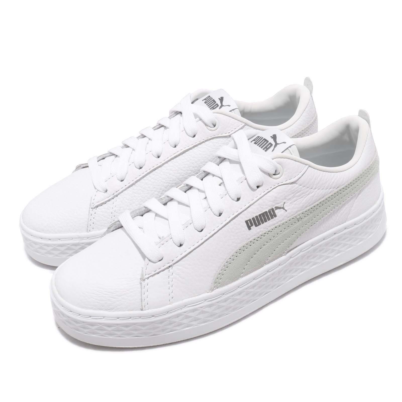 00c766345d370a Details about Puma Smash Platform L White Women Lifestyle Casual Shoes  Sneakers 366487-06
