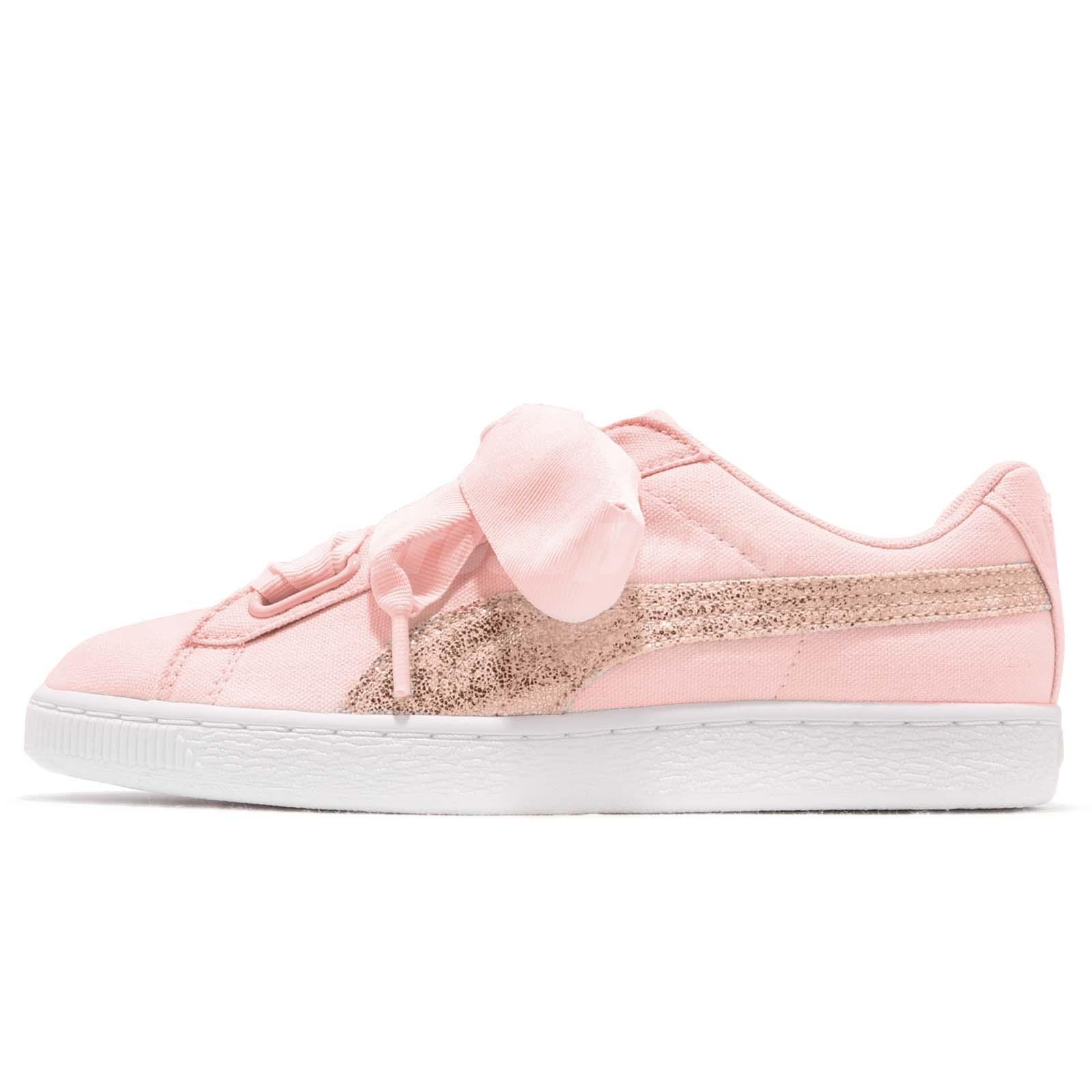 4fa8af6cf8b6ff Puma Basket Heart Canvas Wns Pearl White Rose Gold Women Casual Shoes  366495-02