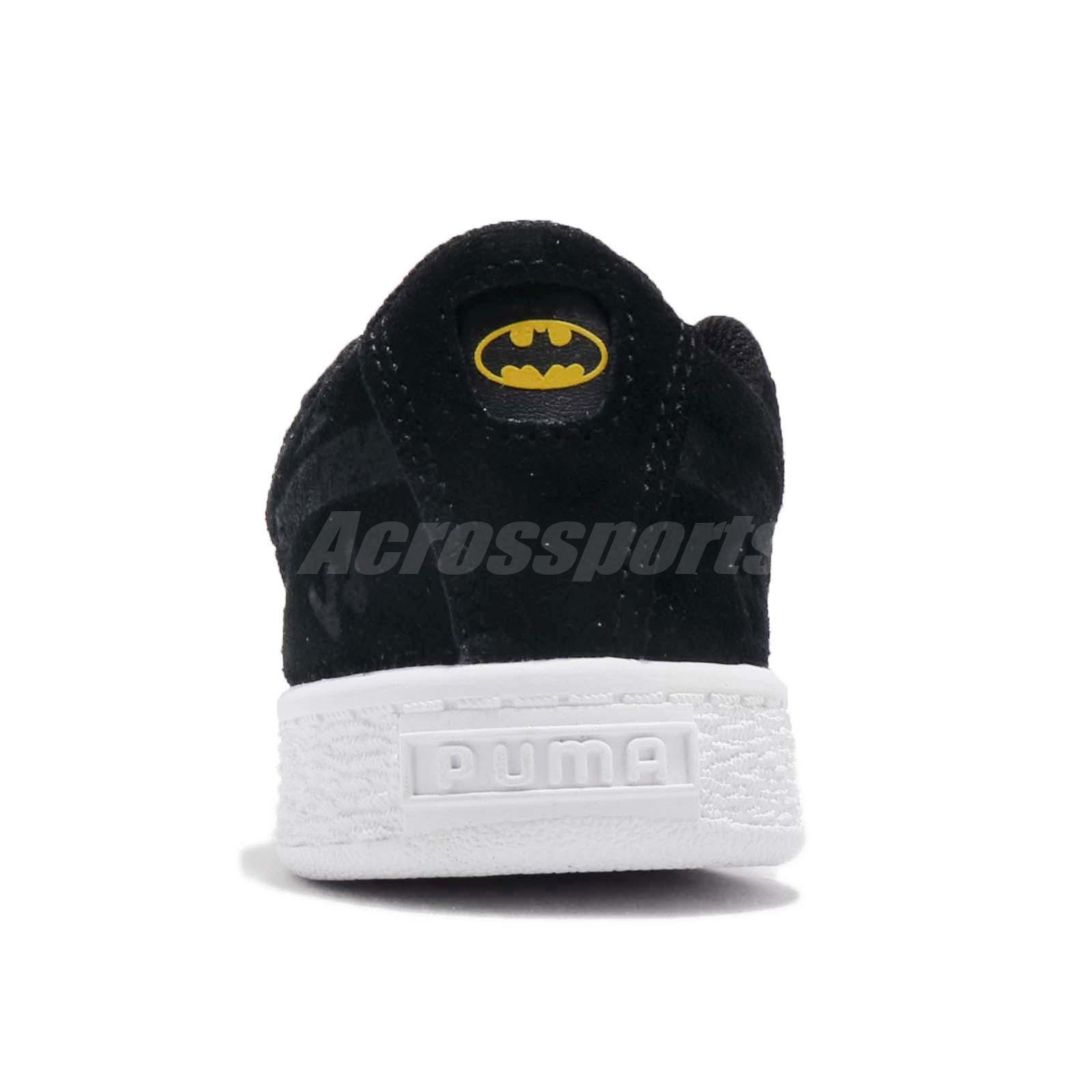 05ffce11faf097 Puma JL Suede AOP V PS Justice League Batman Black Kid Preschool ...
