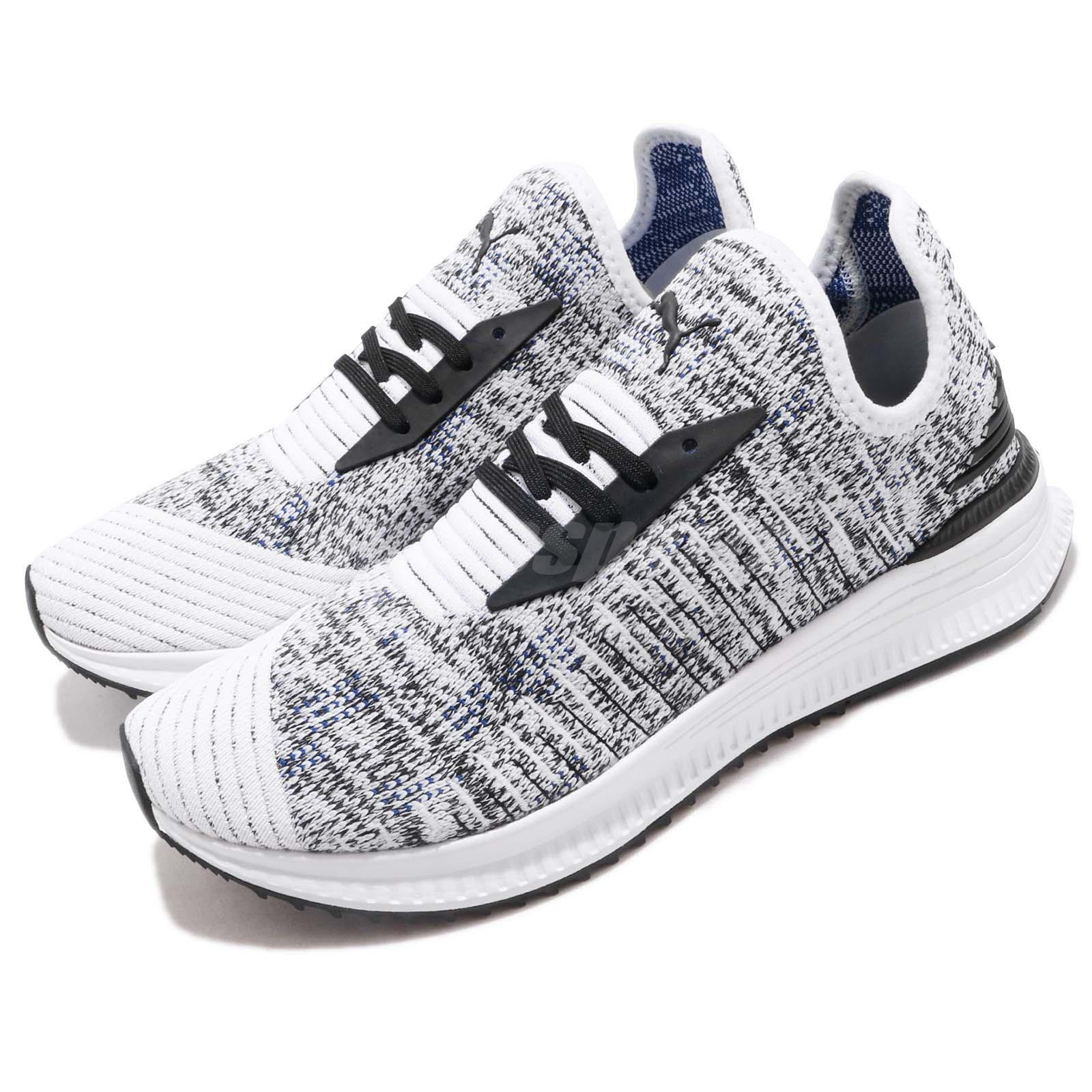 914f4fa8fba6be Details about Puma AVID EvoKnit Mosaic White Black Oreo Mens Womens Running  Shoes 366601-06