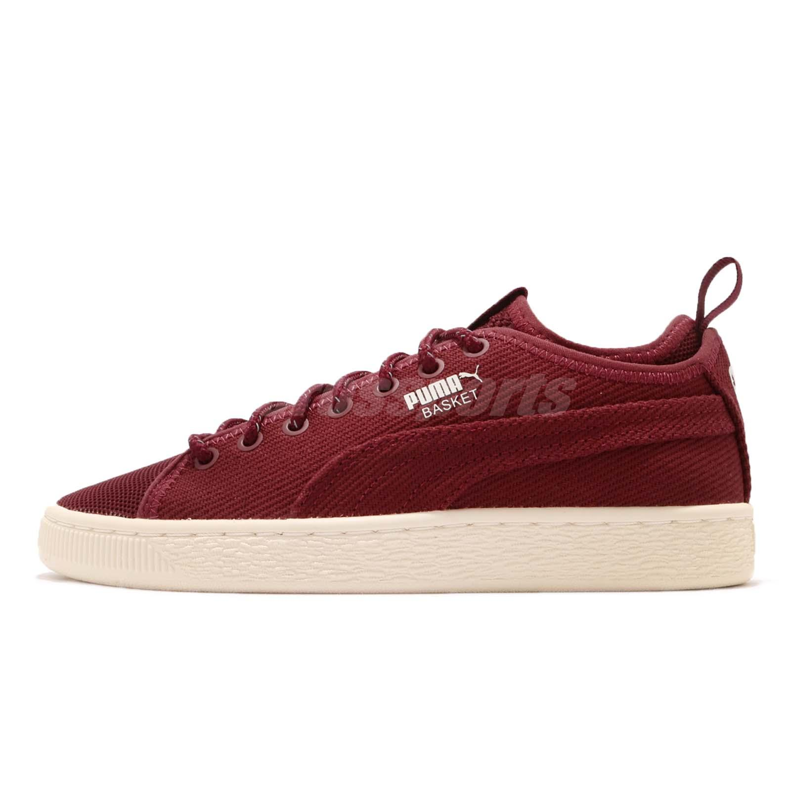 the latest 941f5 28ac4 Details about Puma Basket Classic Sock LO V2 Pomegranate Whisper White  Casual Shoes 366614-03