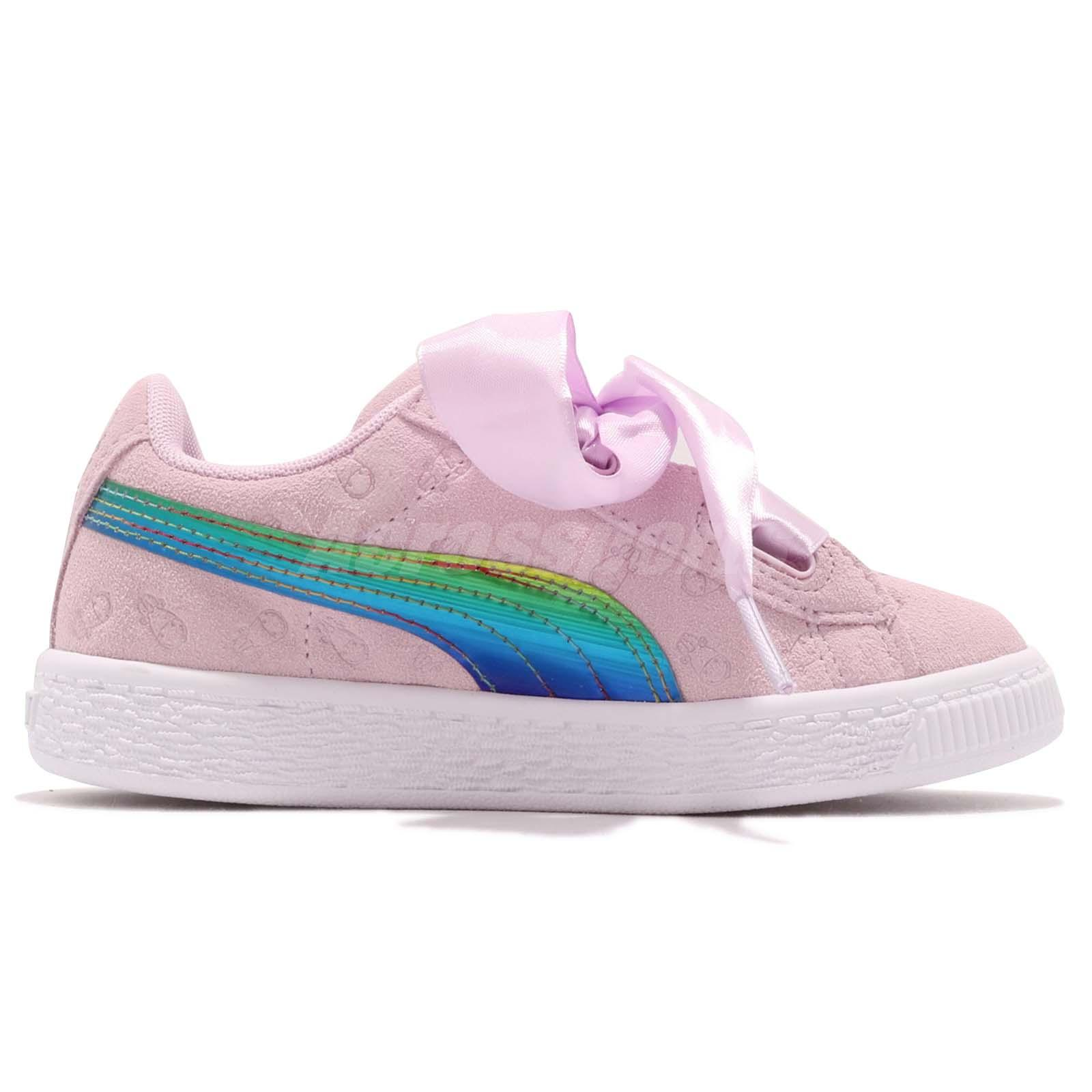 Me Puma Minions Girls Bow Despicable Suede Heart Ps Fluffy Pink YYrPv