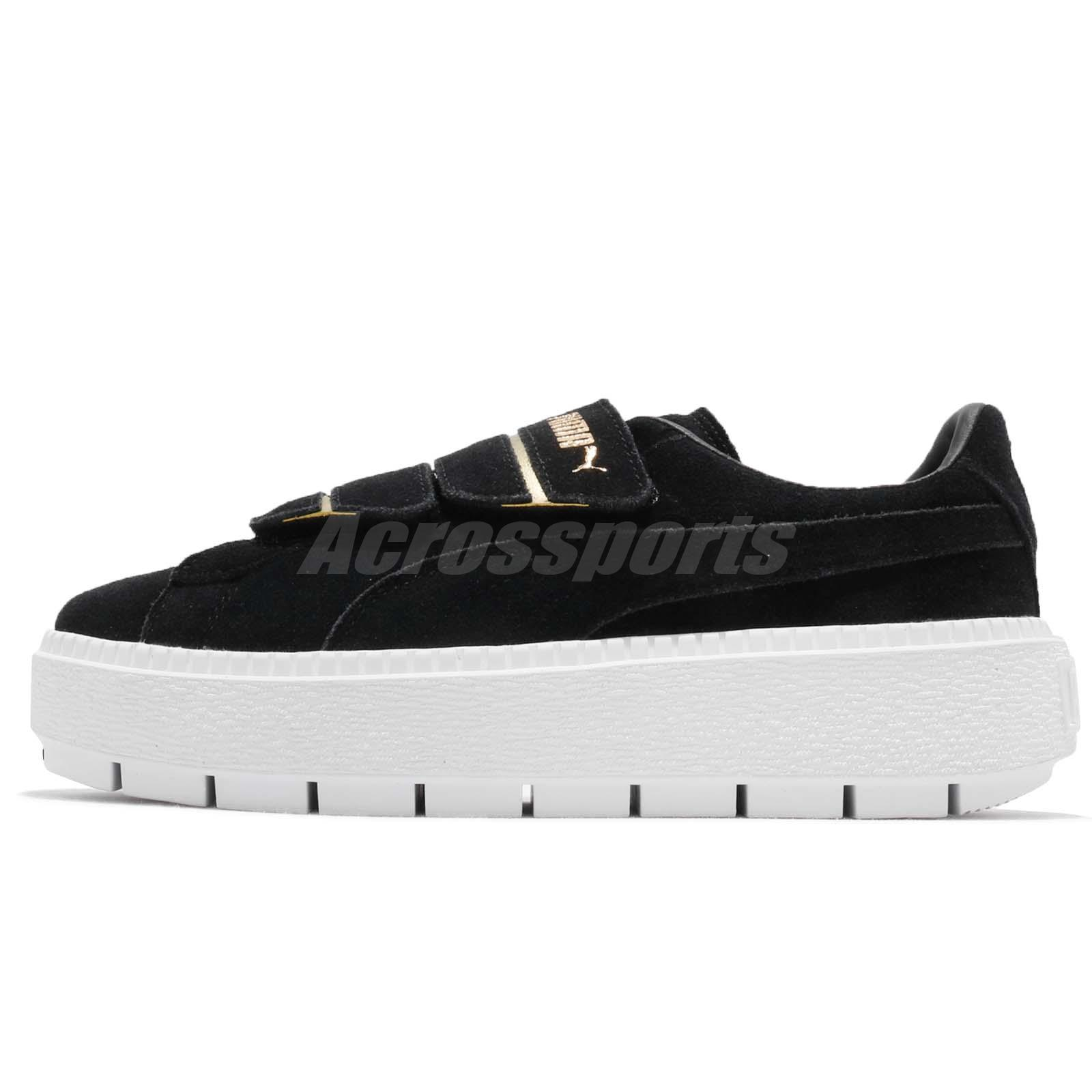 Puma Platform Trace Strap Wns Black White Women Casual Shoes Sneakers 366709 -02 17cad973b