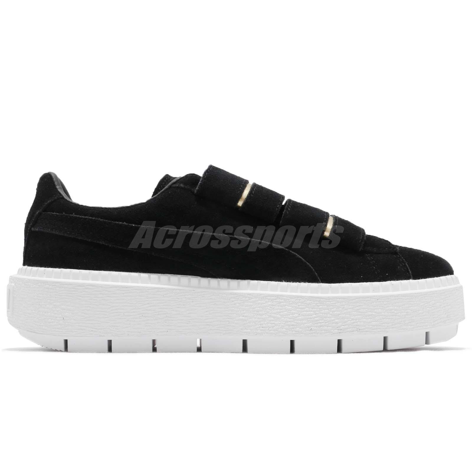 Puma Platform Trace Strap Wns Black White Women Casual Shoes ... 7e6e68f4b
