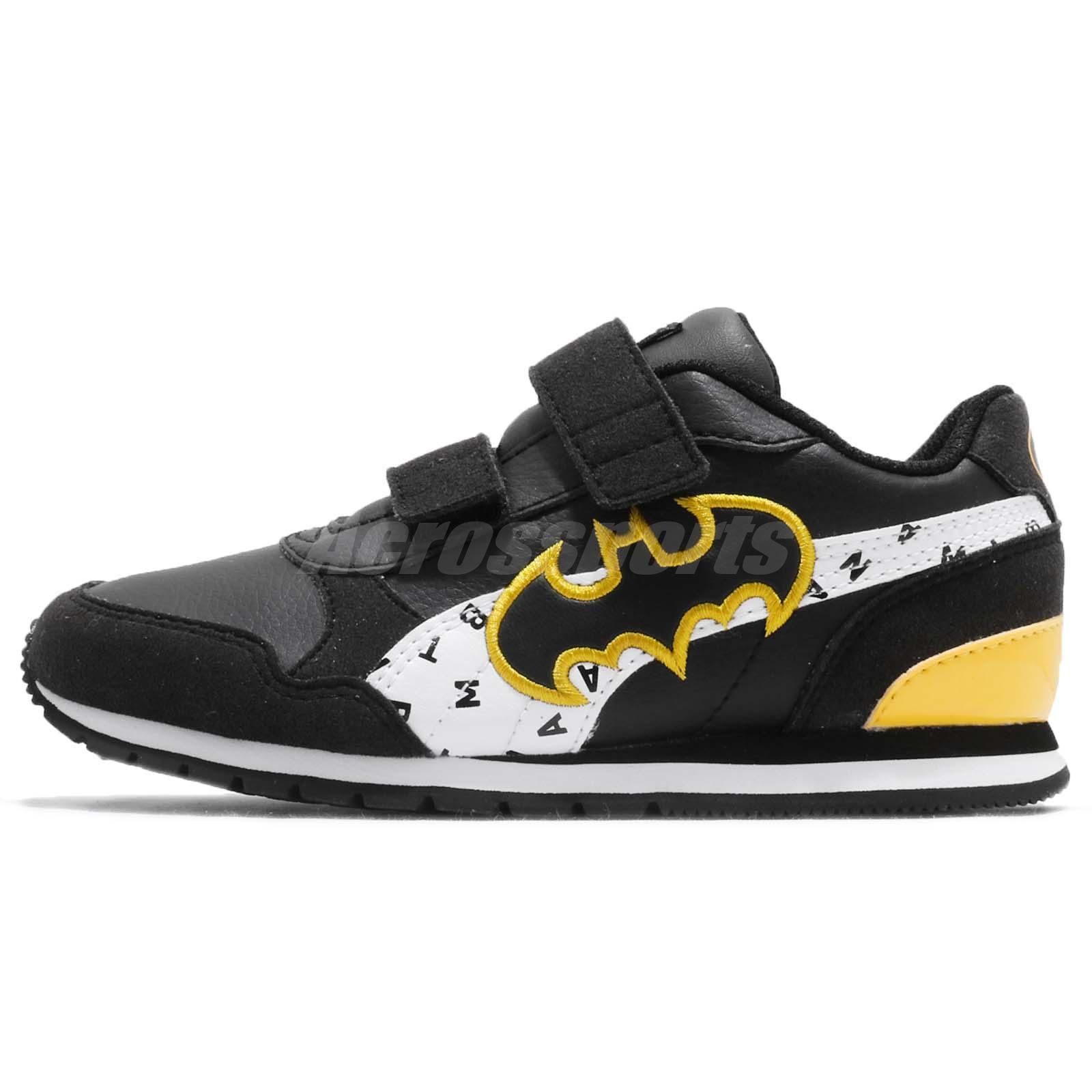 9d6791c8485854 Puma JL ST Runner V2 V PS Justice League Batman Kids Running Shoes 366741-01