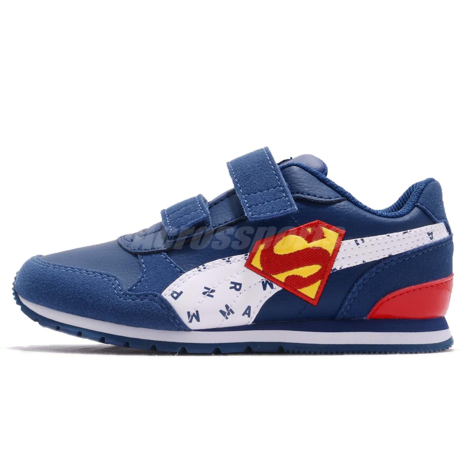 c4d46e36b656b4 Puma JL ST Runner V2 V PS Superman Preschool Kids Running Shoes 366741-02