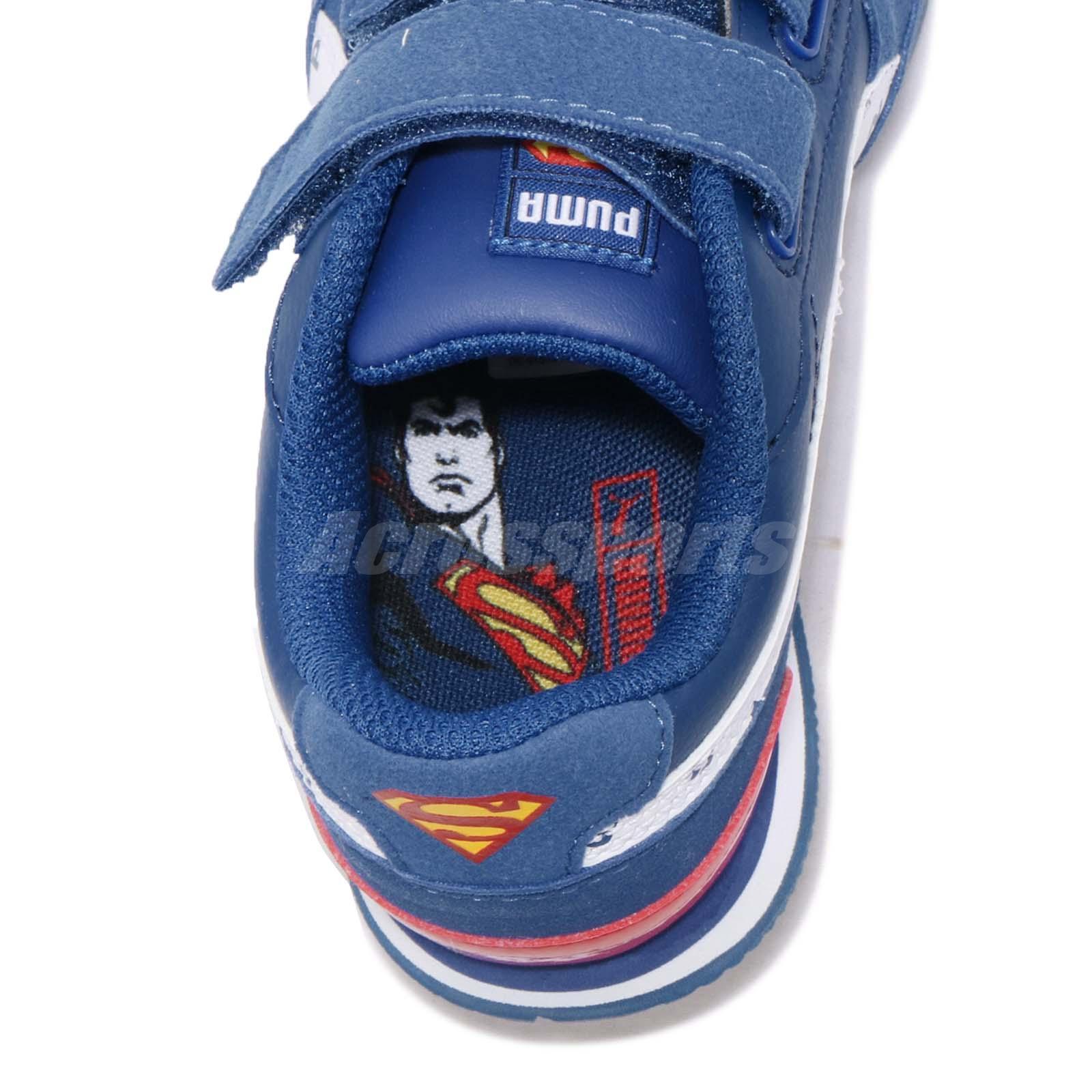 d2d67772302757 Puma JL ST Runner V2 V PS Superman Preschool Kids Running Shoes ...