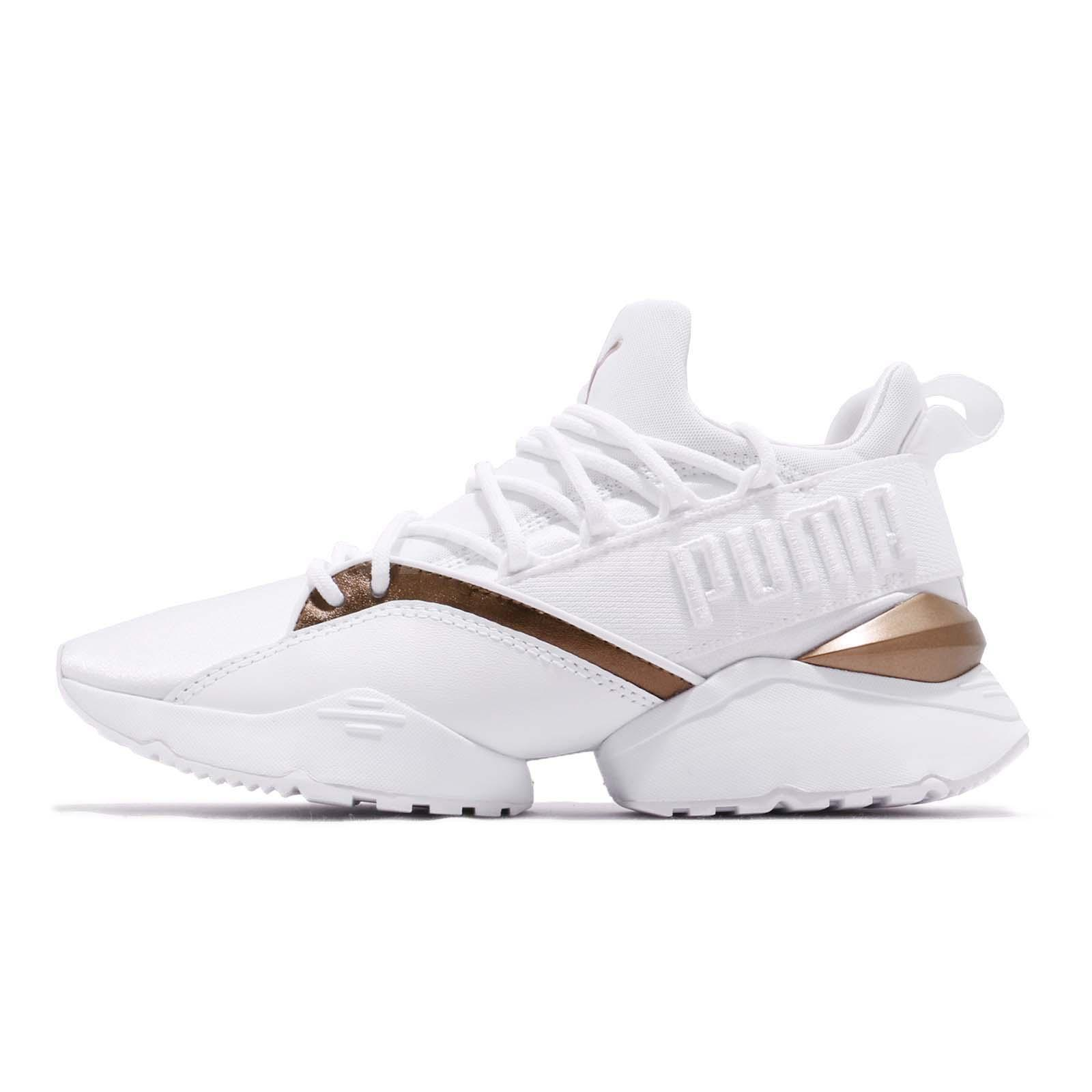 f45d3200431 Puma Muse Maia Luxe Wns White Women Running Casual Lifestyle Shoes 366766-02