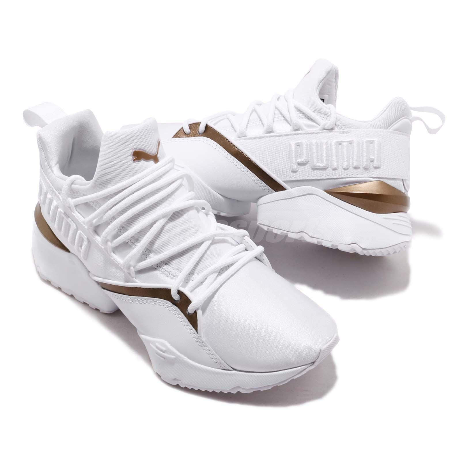 Détails sur Puma Muse Maia Luxe Wns White Women Running Casual Lifestyle Shoes 366766 02