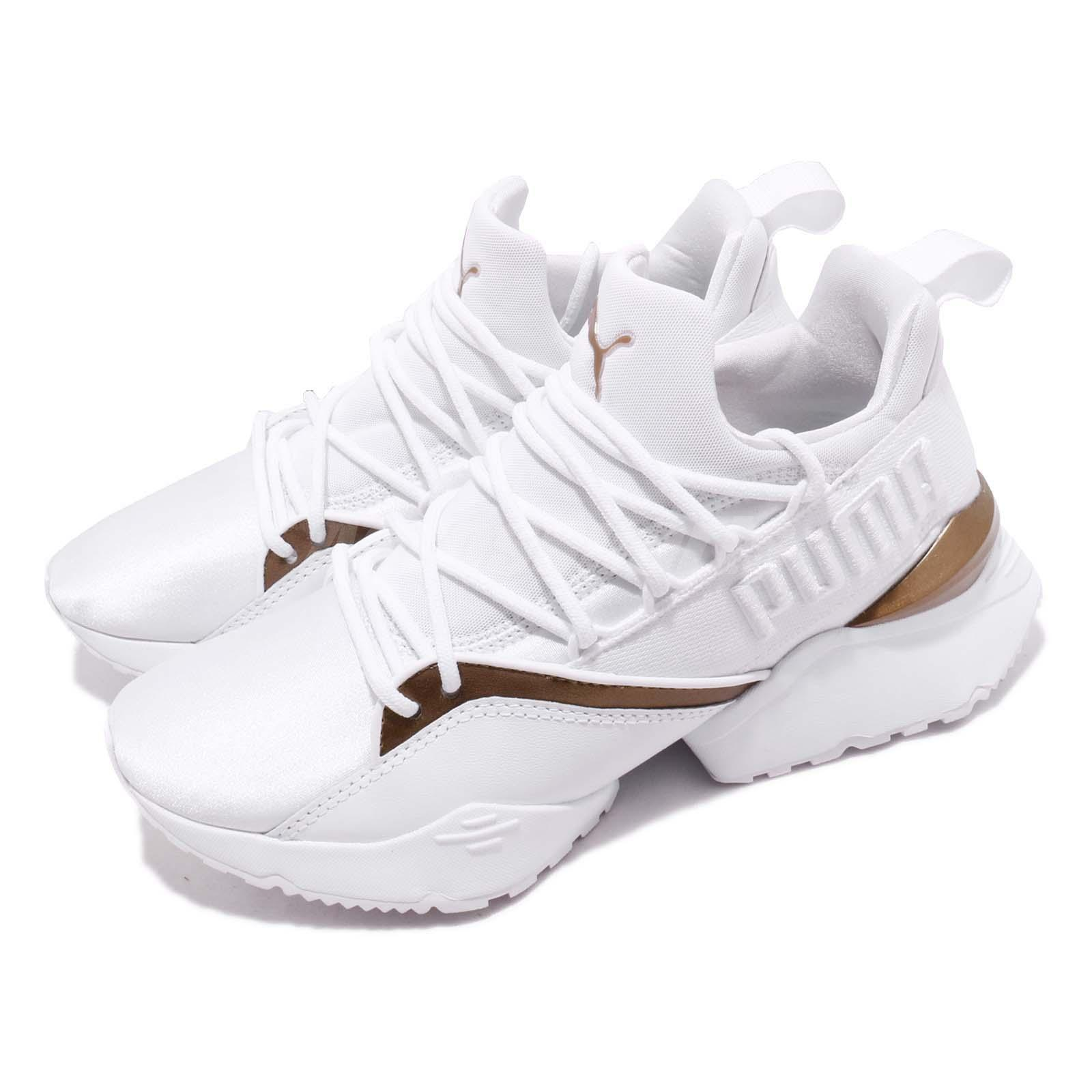 6ba5ce9764de Details about Puma Muse Maia Luxe Wns White Women Running Casual Lifestyle  Shoes 366766-02