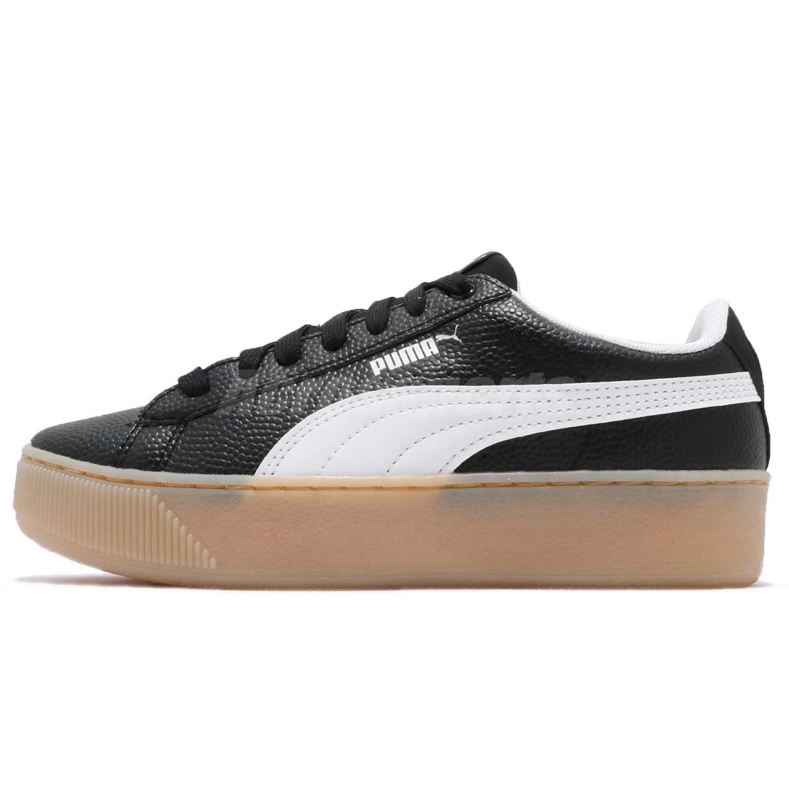 a596cd48 Details about Puma Vikky Platform VT Black White Gum Women Casual Shoes  Sneakers 366805-02