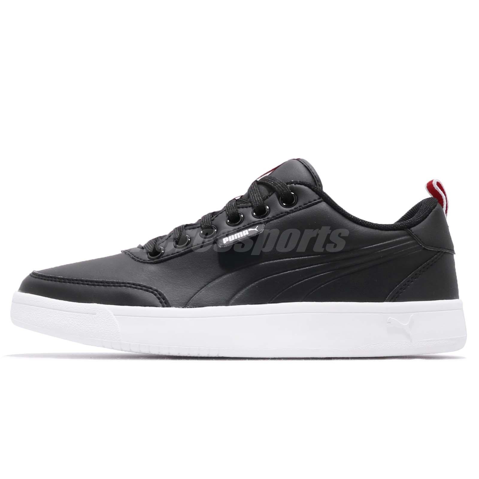 00362533cab Puma Court Breaker Flag Black Red White Mens Womens Athletic Shoes 366817-02