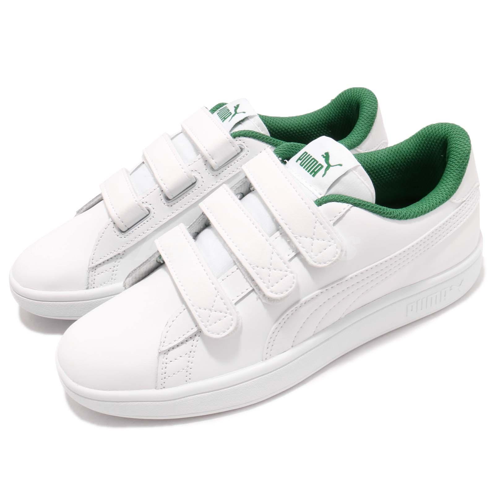puma smash blanco verde