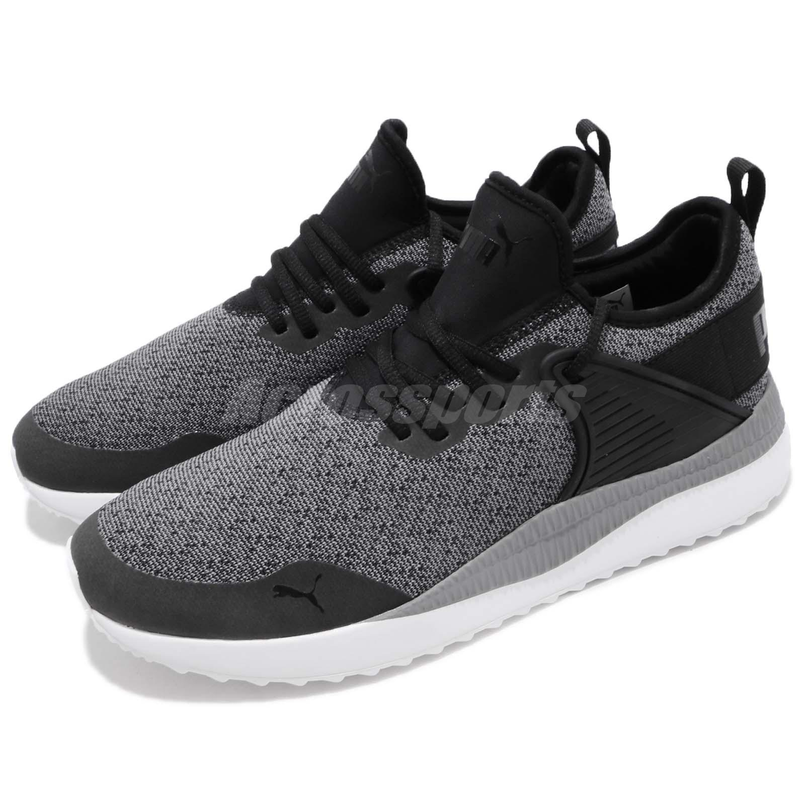 c416276f08cb4b Details about Puma Pacer Next Cage Knit Premium Black Grey Men Running Shoes  Sneaker 366949-01