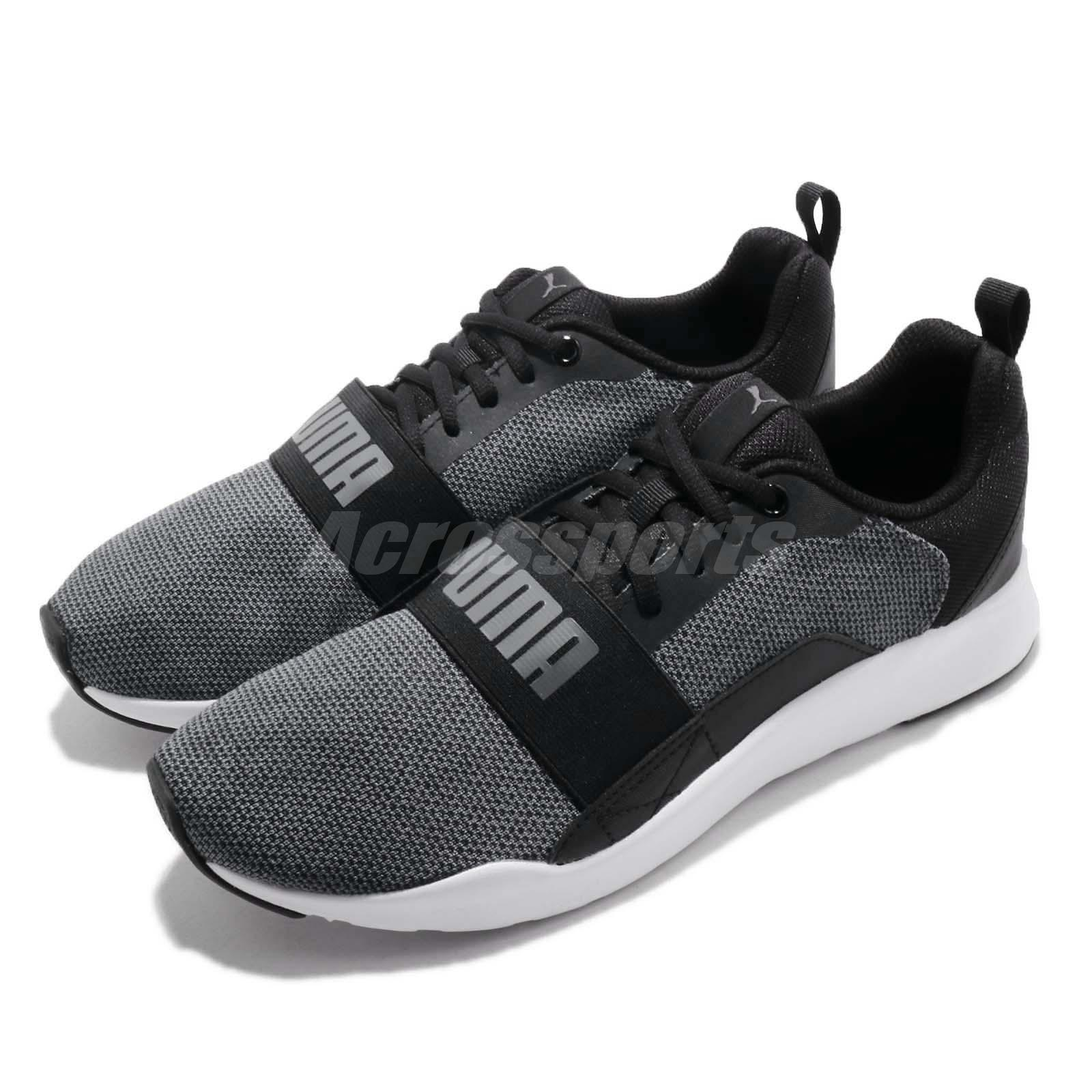5e9cb54c66a Details about Puma Wired Knit Black Grey White Men Running Casual Shoes  Sneakers 366971-01