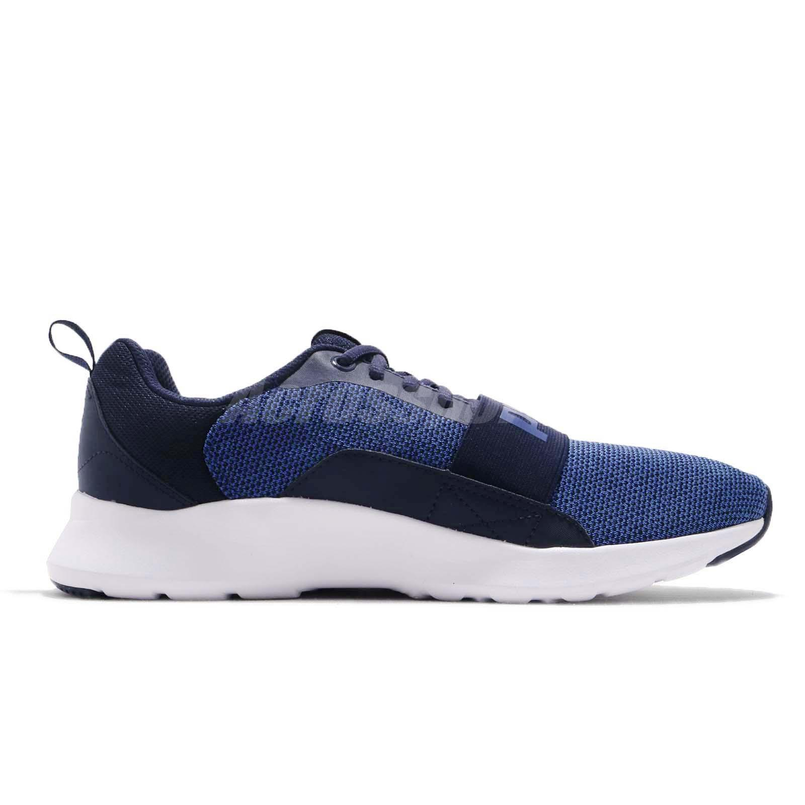 aaa6f14d0869 Puma Wired Knit Peacoat Sodalite Blue White Men Running Shoes ...