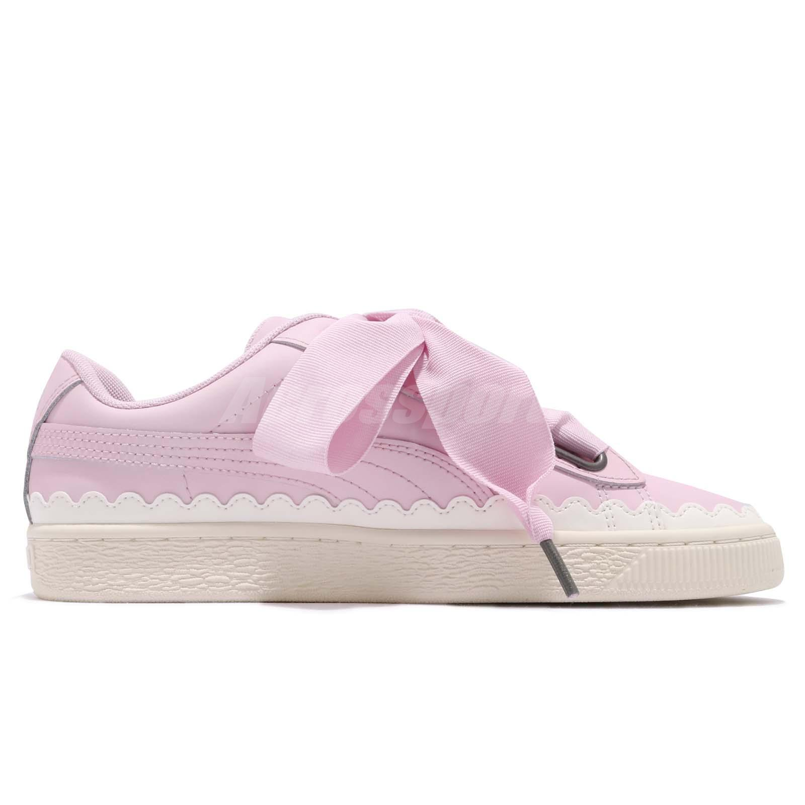 Puma Basket Heart Scallop Wns Winsome Orchid Bow Women Casual Shoes ... fa065b8cd