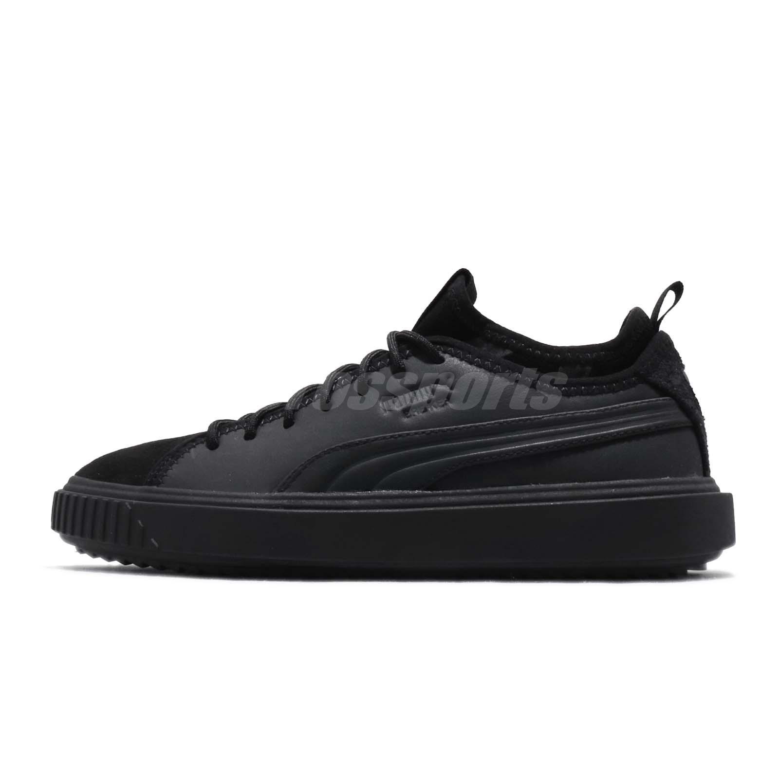 fa2bb34c916a40 Puma Breaker Mesh PA Black Grey Men Women Casual Shoes Sneakers 366988-01