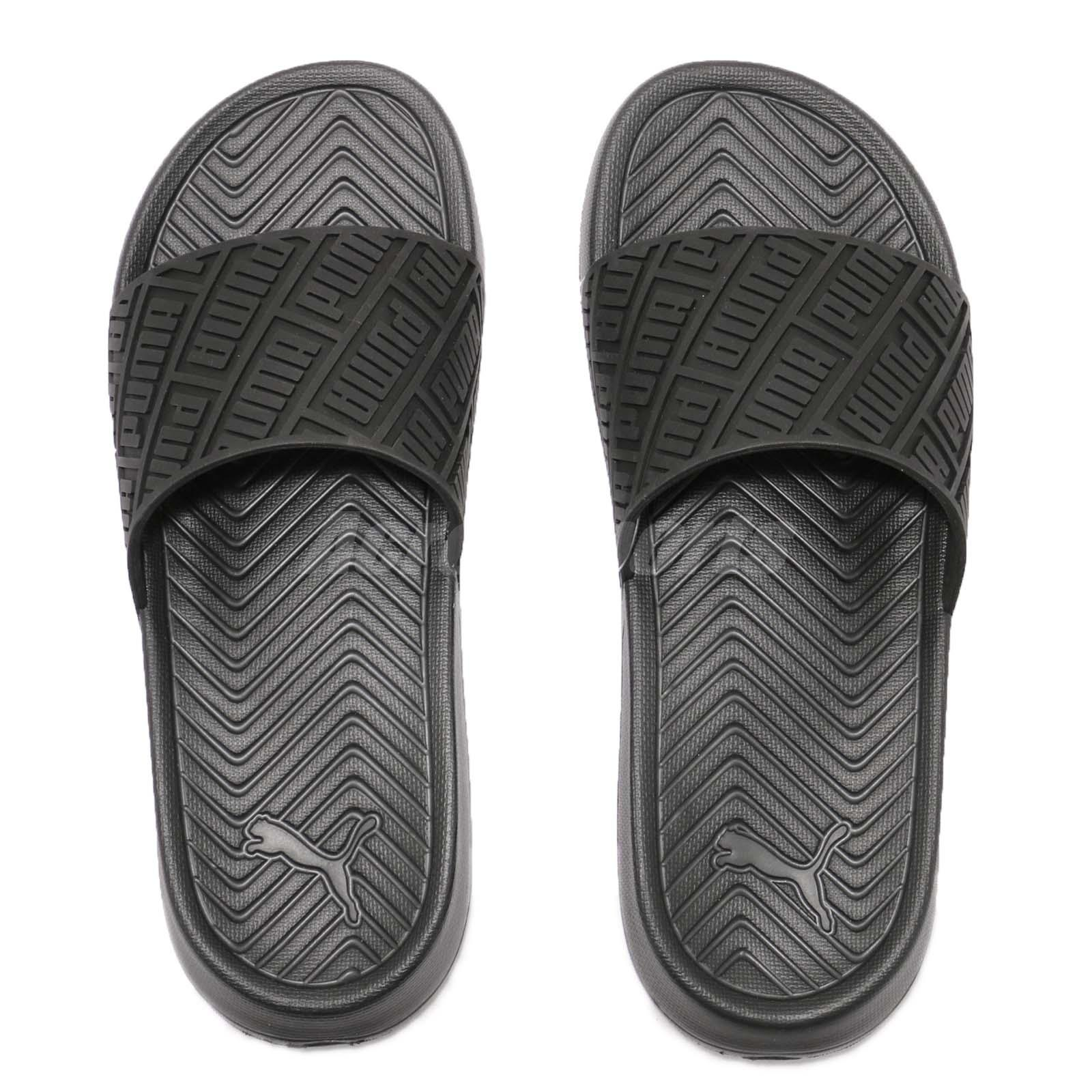 99d24c3326b Puma Popcat Rubber Triple Black Men Sports Sandals Slides Slippers ...