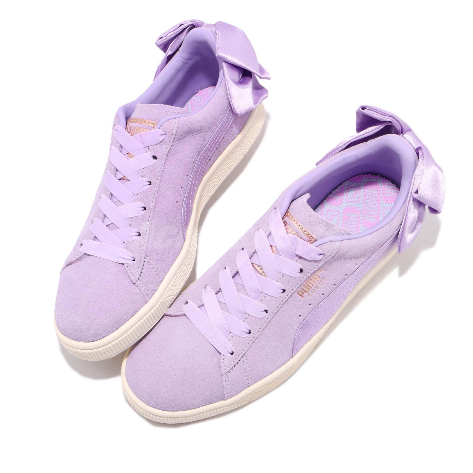 Puma Suede Bow W Chaussures Purple Rose NYXK8