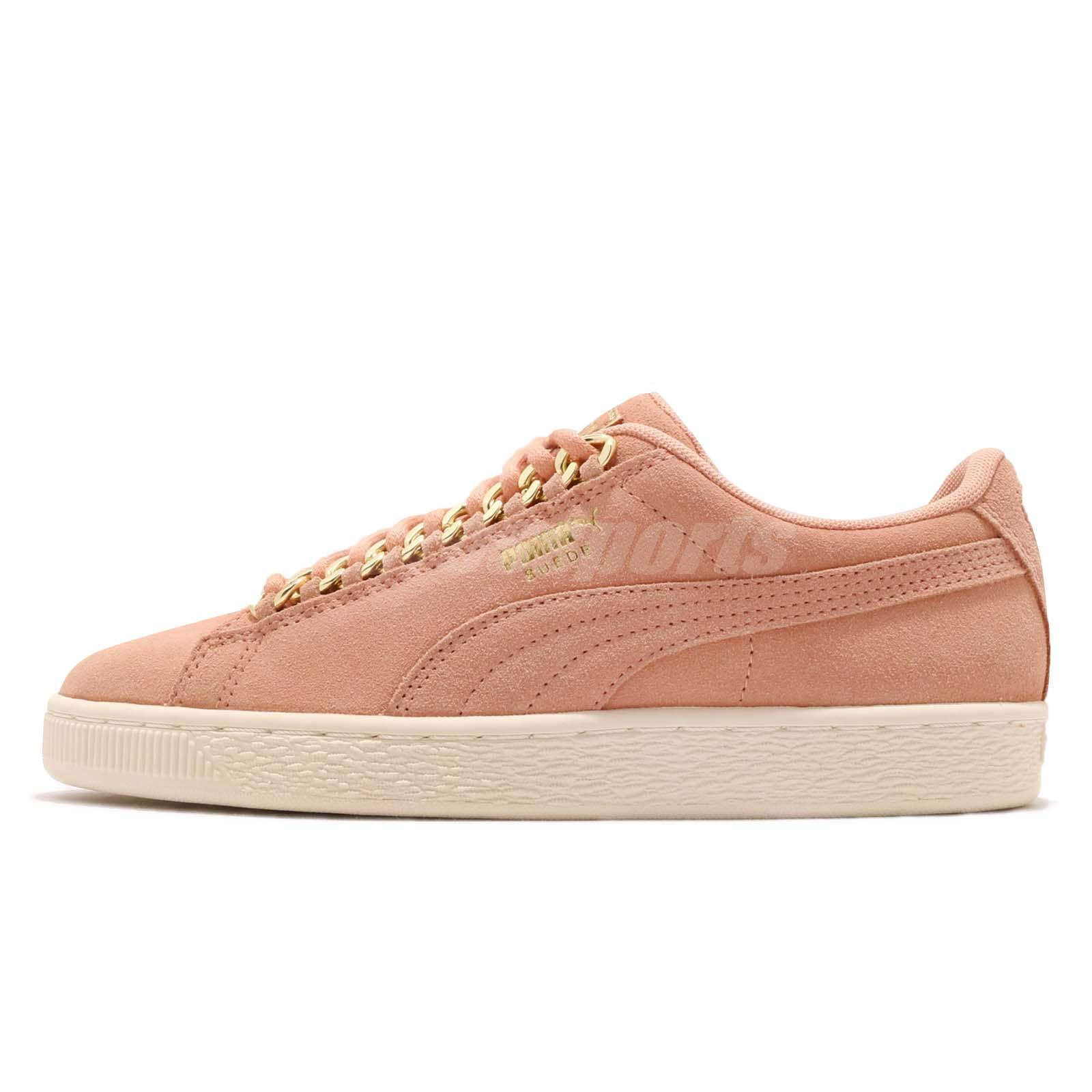 efe296b76321 Puma Suede Classic X Chain Wns Dusty Coral Gold Women Casual Shoes 367352-01