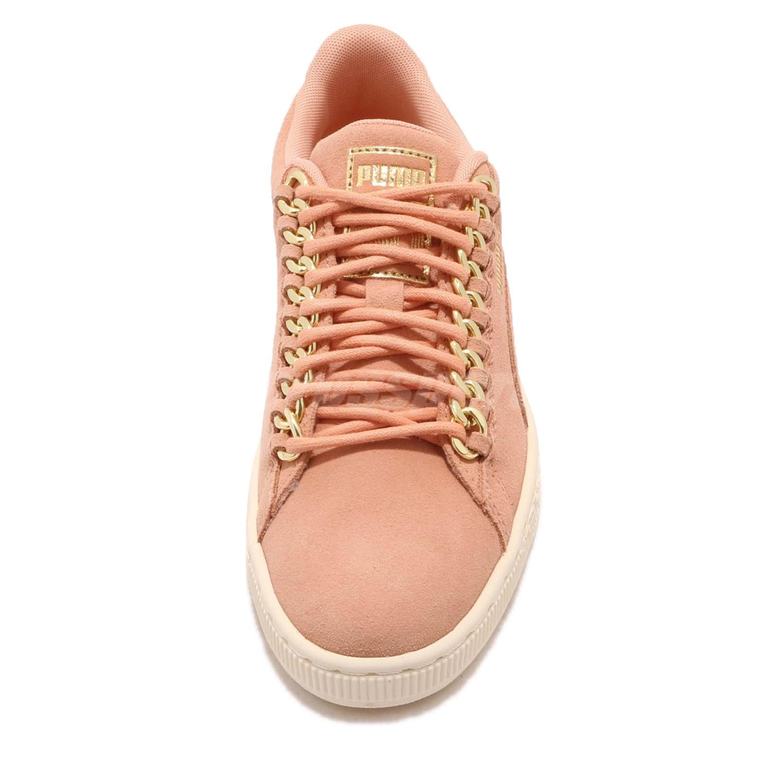 Puma Dusty Suede Classic Women Coral Shoes X Chain Wns Gold Casual Pw8n0OXk