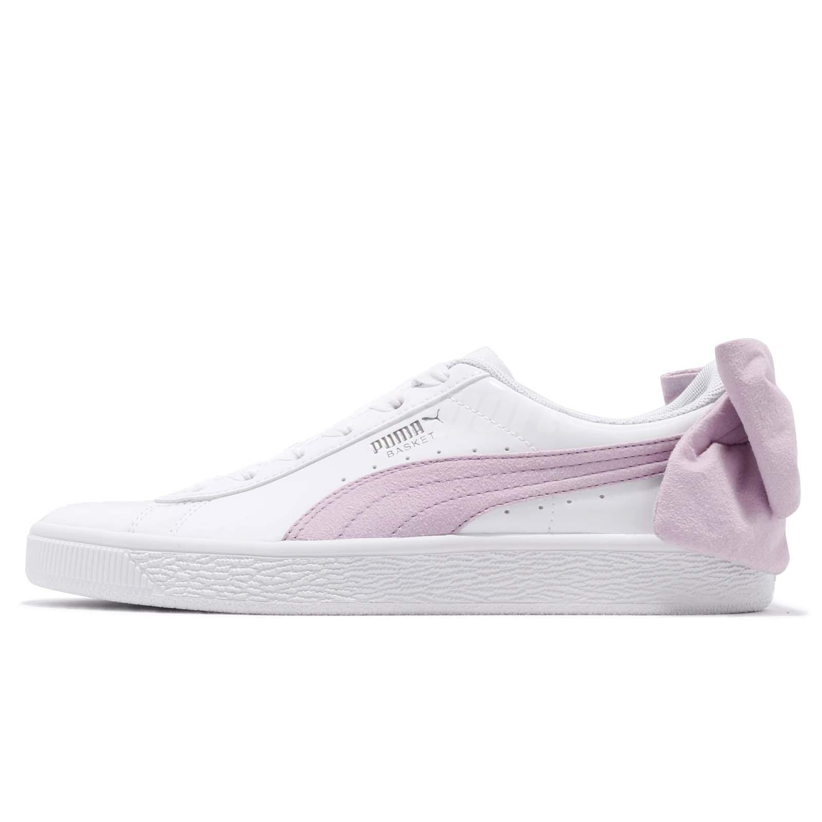 Puma Basket Bow SB Wns White Winsome Orchid Women Casual Shoes Sneaker  367353-02 db491f905