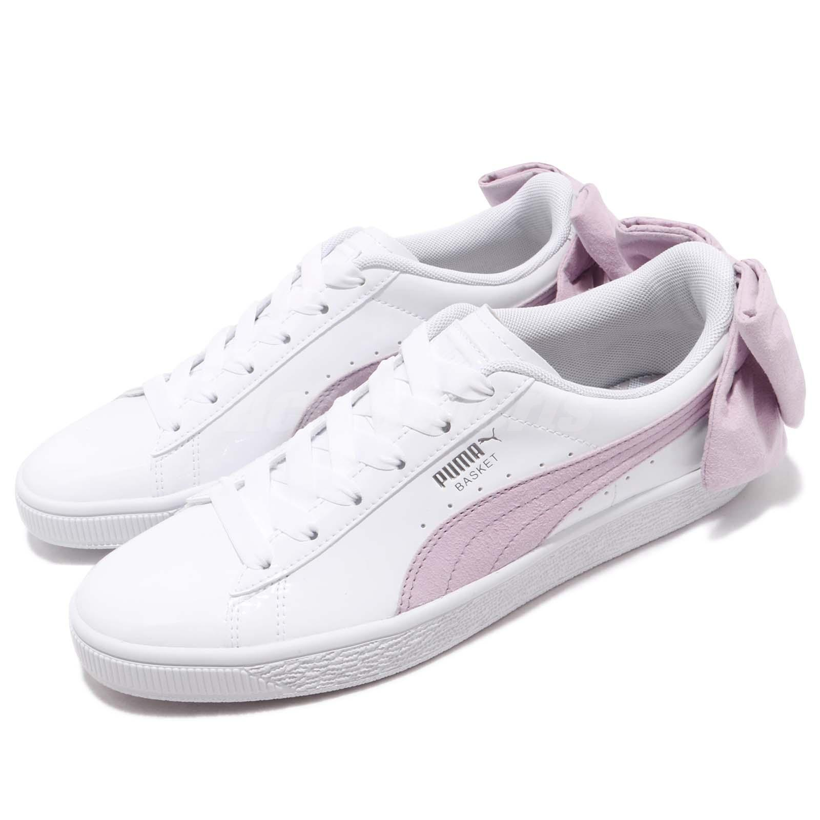 newest 9a3ef 1b9c7 Details about Puma Basket Bow SB Wns White Winsome Orchid Women Casual  Shoes Sneaker 367353-02