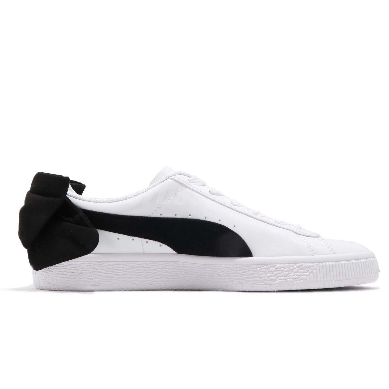 a5ce60322a44 Puma Basket Bow SB Wns White Black Women Casual Fashion Shoes ...