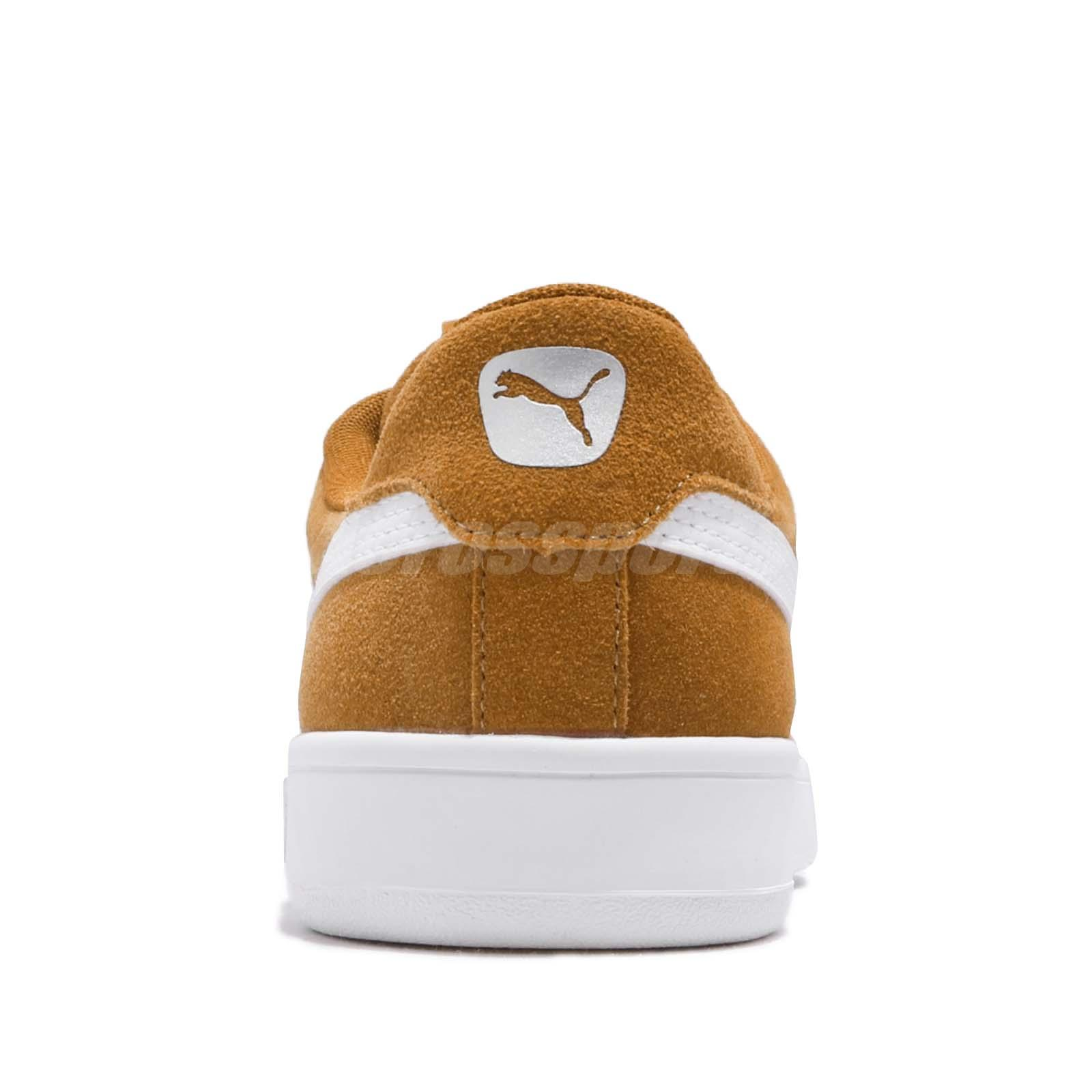 9f9fe2a7a467 Puma Court Breaker Derby Brown White Suede Mens Womens Casual Shoes ...