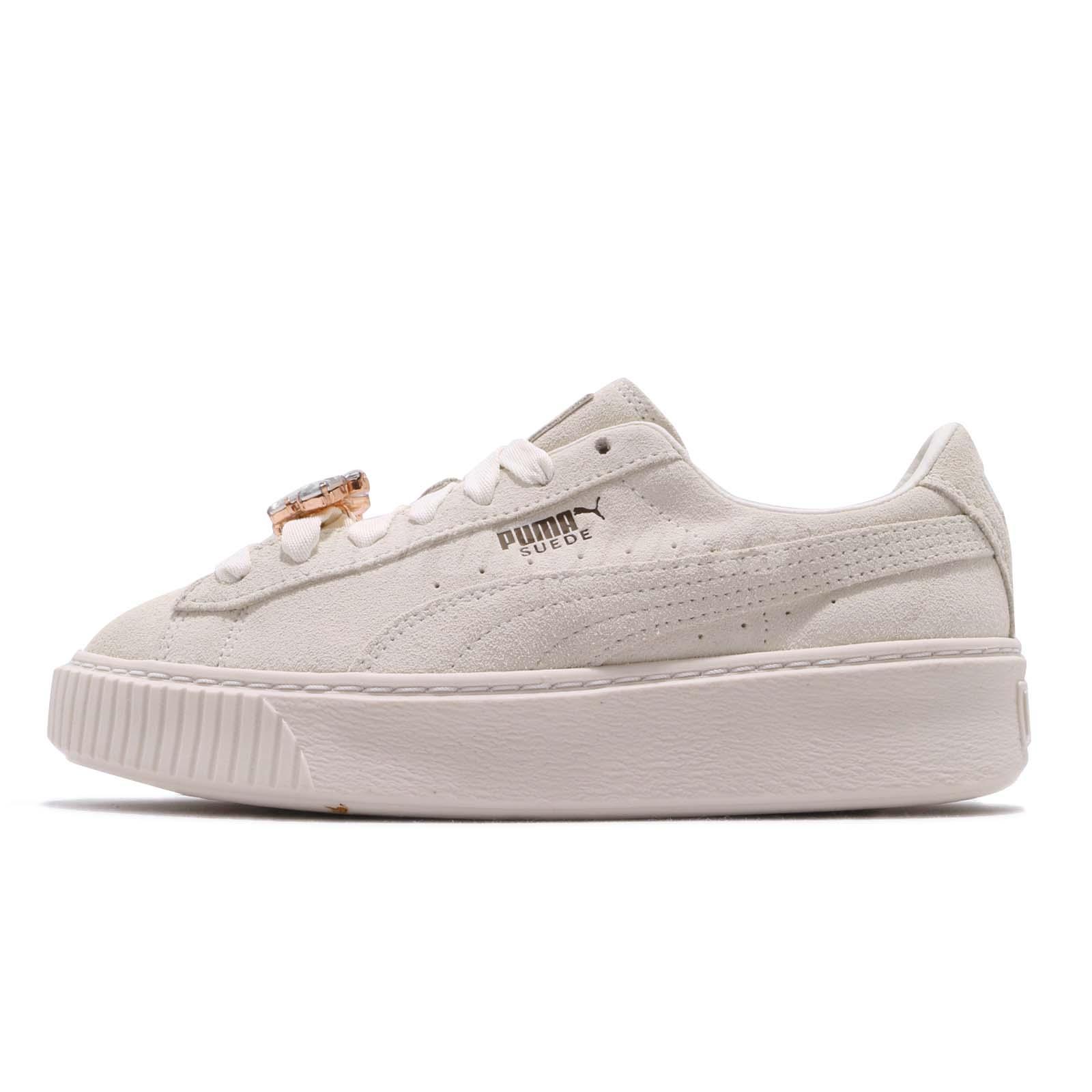 Puma Suede Platform Gem Wns Ivory Womens Lifestyle Casual Shoes 367452-03 1e4370d9b