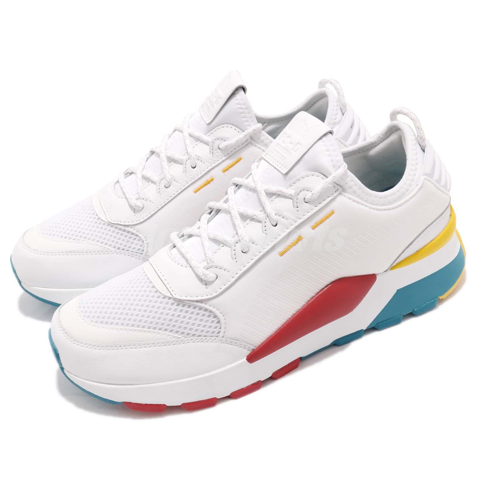 Puma RS 0 Play Running System White Hawaiian Ocean Dandelion Men Shoes 367515 01