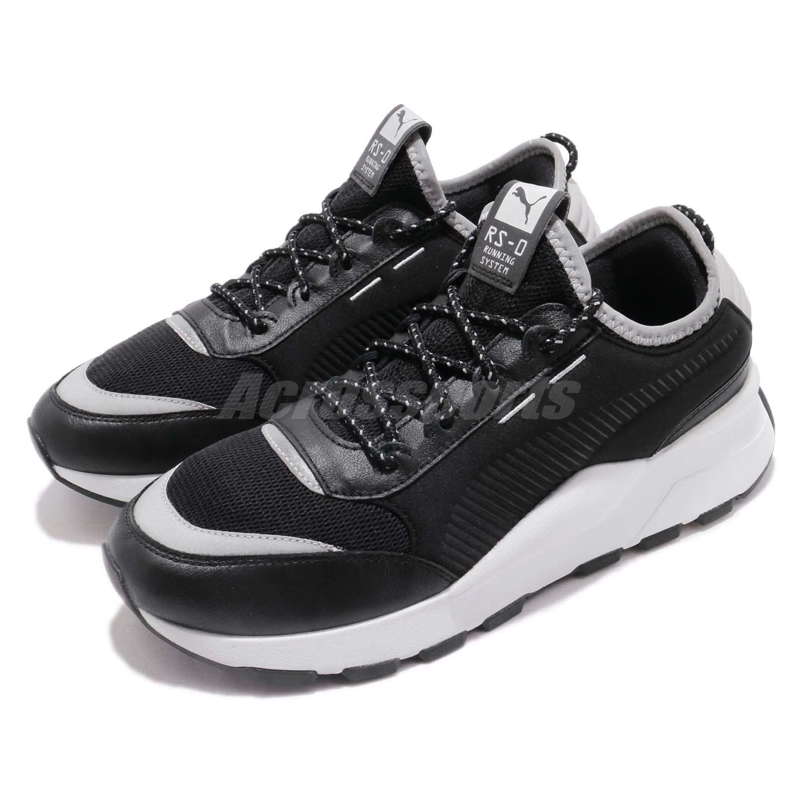 Details about Puma RS-0 OPTIC POP Black Silver White Men Running Shoes  Sneakers 367680-02