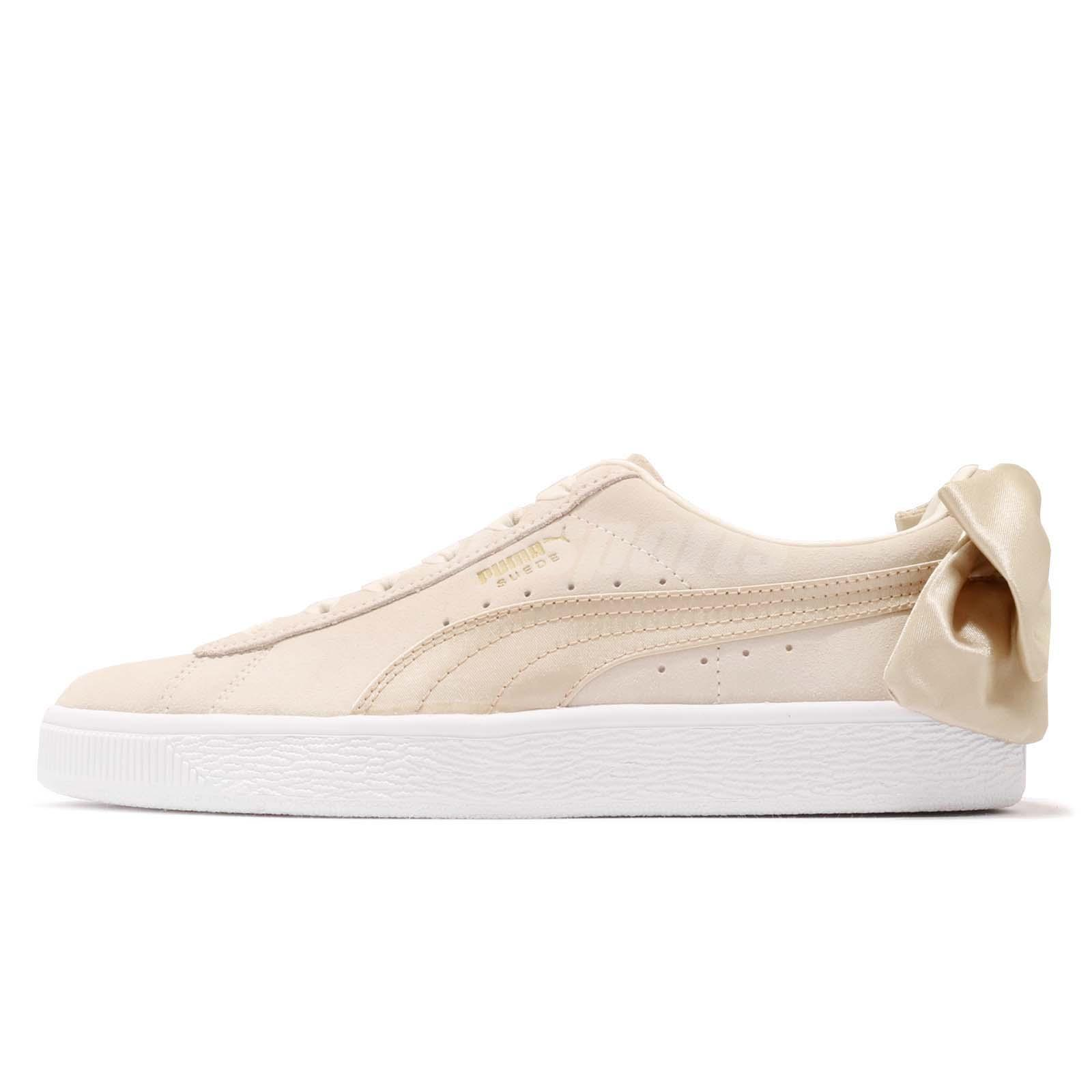 Puma Suede Bow Varsity Wns Beige Gold Womens Casual Shoes Sneakers 367732-03 3ead730fb