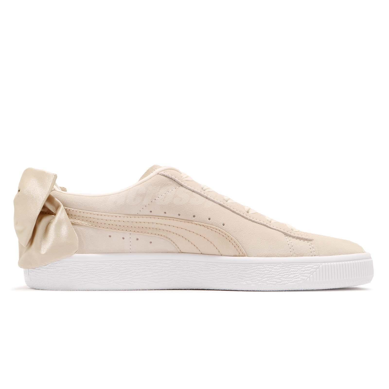 e2a46e5fbaa6 Details about Puma Suede Bow Varsity Wns Beige Gold Womens Casual Shoes  Sneakers 367732-03
