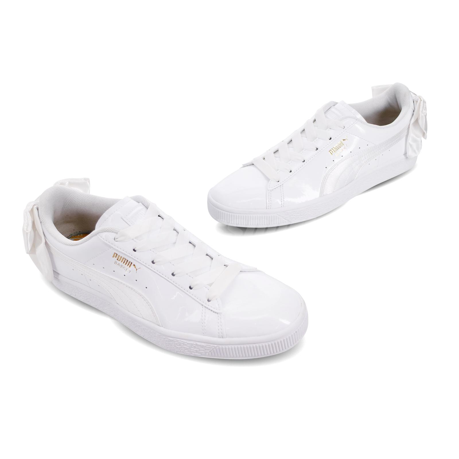 Details about Puma Basket Bow SB Wns KR White Gold Women Casual Shoes Sneakers 368130 02
