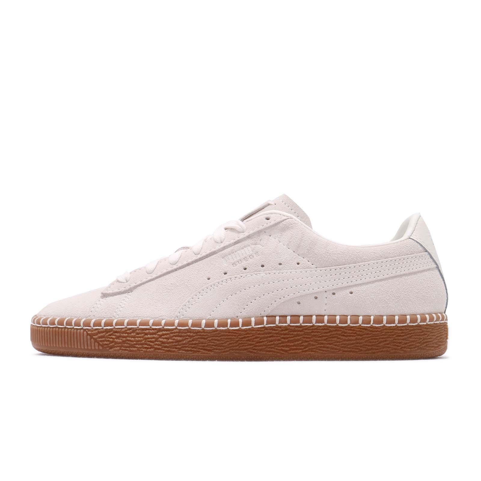 9a44753eb1 Details about Puma Suede Classic Blanket Stitch Whisper White Gum Men Women  Shoes 368903-03