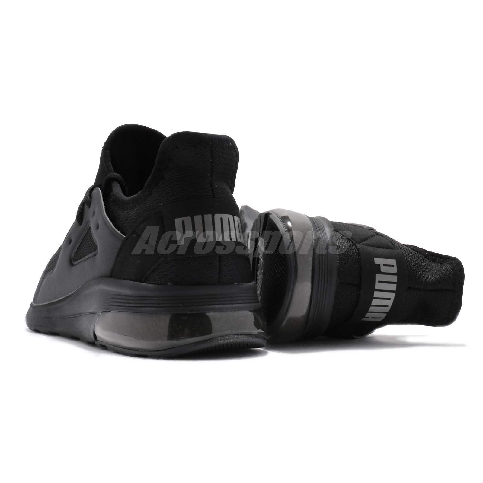931d56a25b3 Puma Electron Street Eng Mesh Black Grey Men Running Shoes Sneakers ...