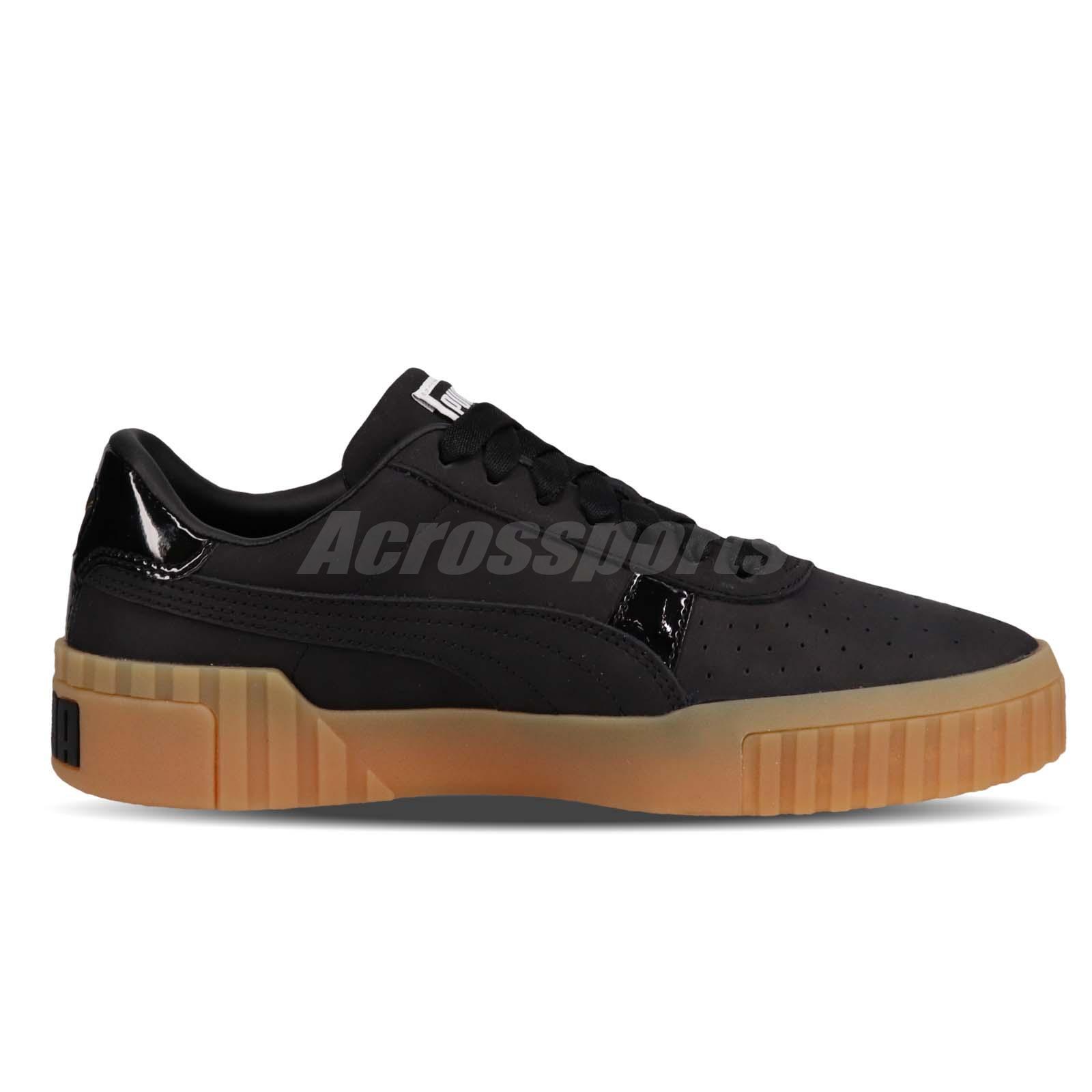 42dea9d2 Puma Cali Nubuck Wns Black Gold Gum Women Casual Lifestyle Shoes ...