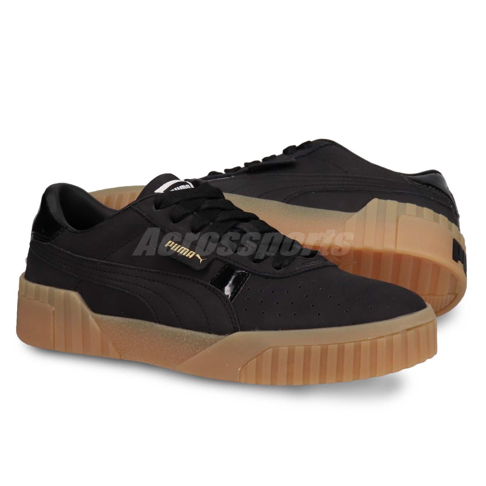 f5c7736d889d49 Details about Puma Cali Nubuck Wns Black Gold Gum Women Casual Lifestyle  Shoes 369161-03