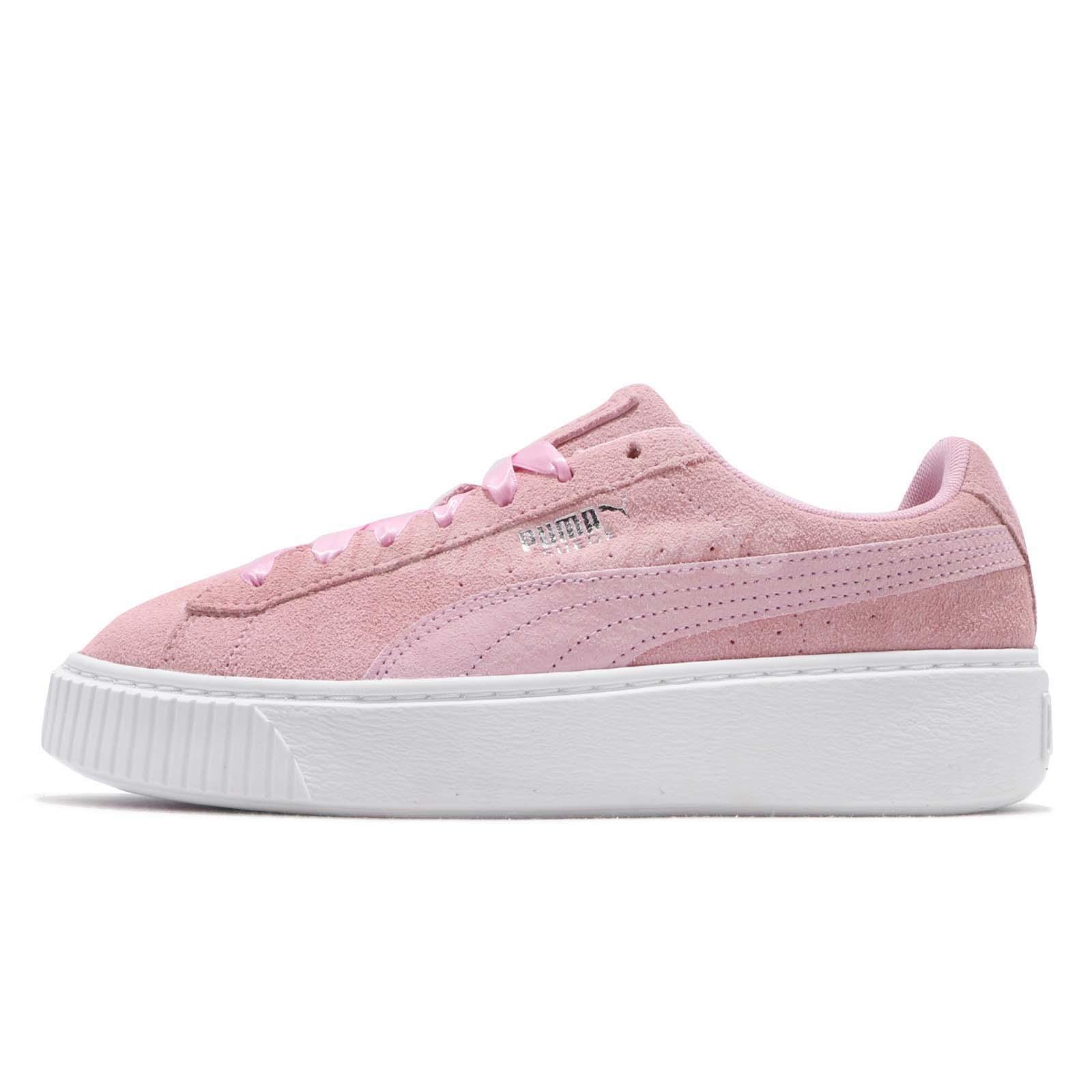 0bc924251e Details about Puma Platform Galaxy Wns Pale Pink Silver White Women Casual  Shoes 369172-01