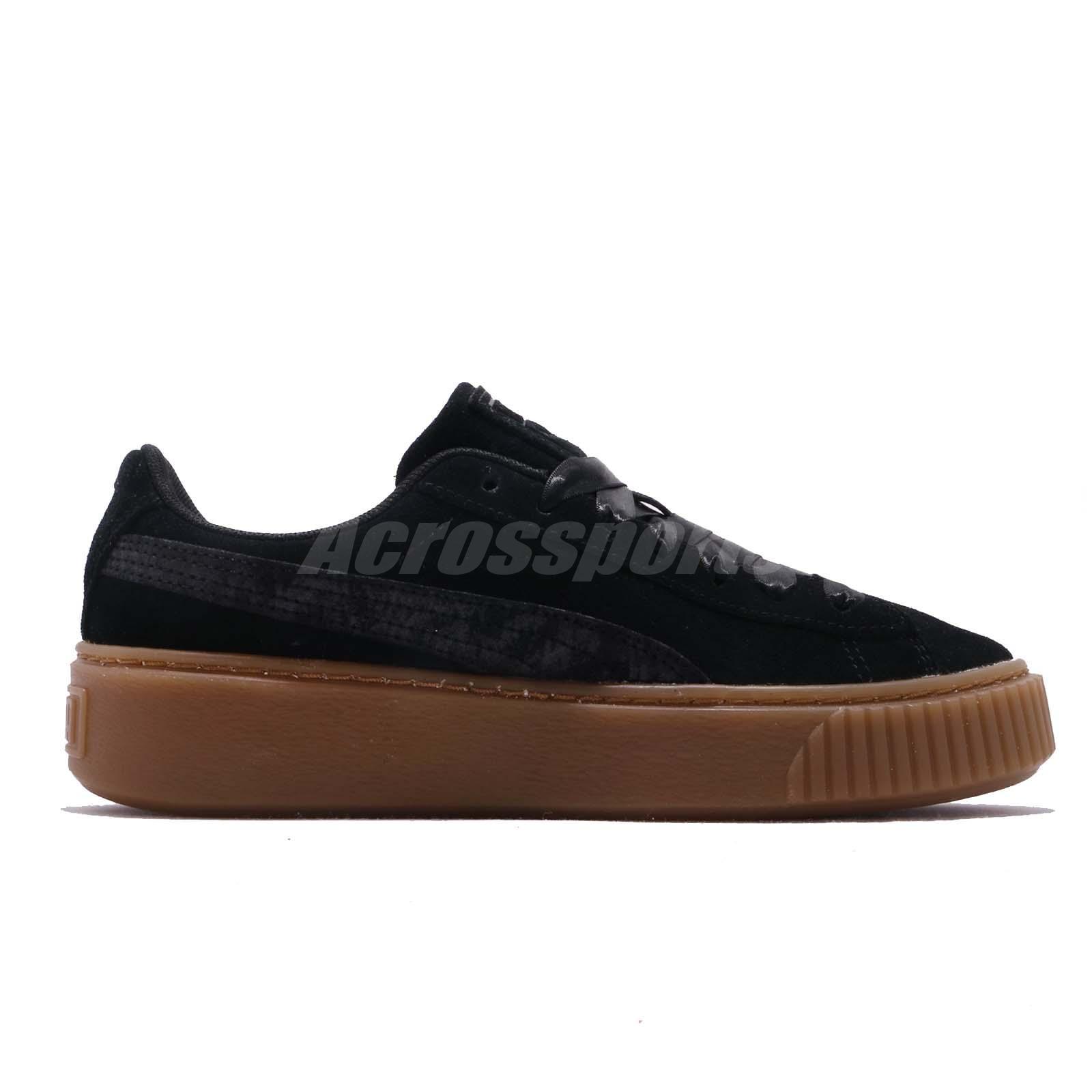 7f8d4f1512 Details about Puma Platform Galaxy Wns Black Gum Silver Women Casual Shoes  Sneakers 369172-03