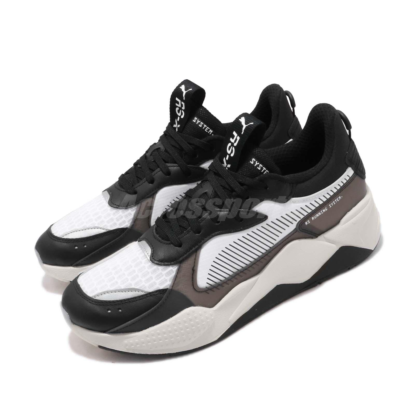 Details about Puma RS-X Tech Running System Black Grey White Men Women  Unisex Shoes 369329-01