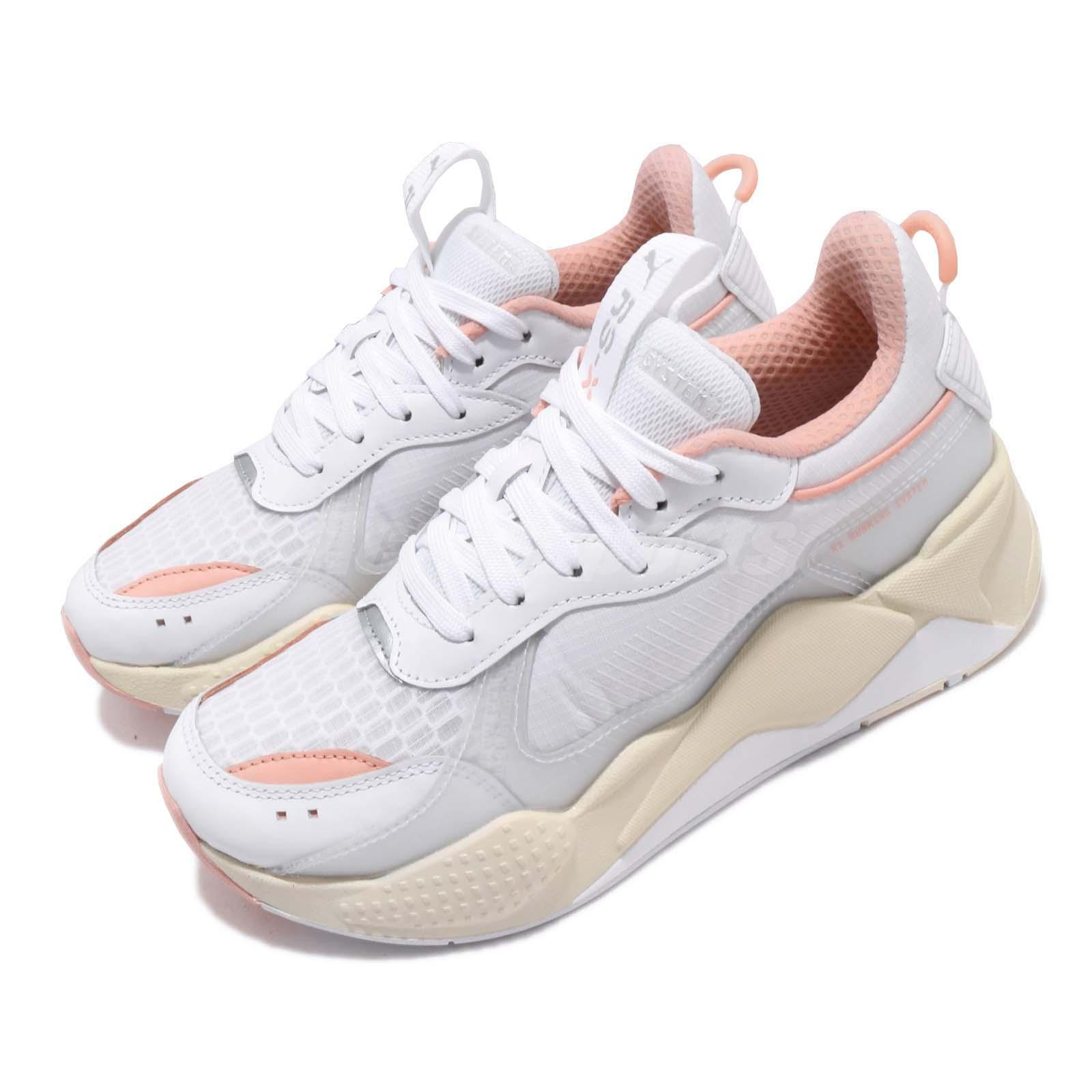 Details about Puma RS-X Tech White Peach Bud Mens Womens Lifestyle Chucky  Shoes 369329-04