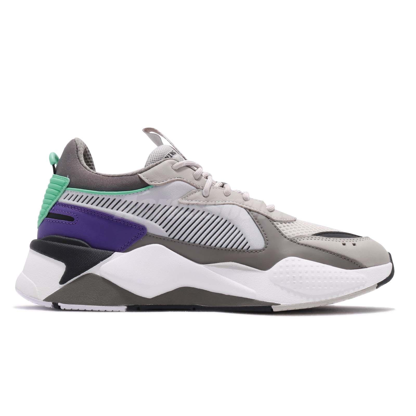 Details about Puma RS-X Tracks Running System Grey Purple White Green Men  Shoes 369332-01